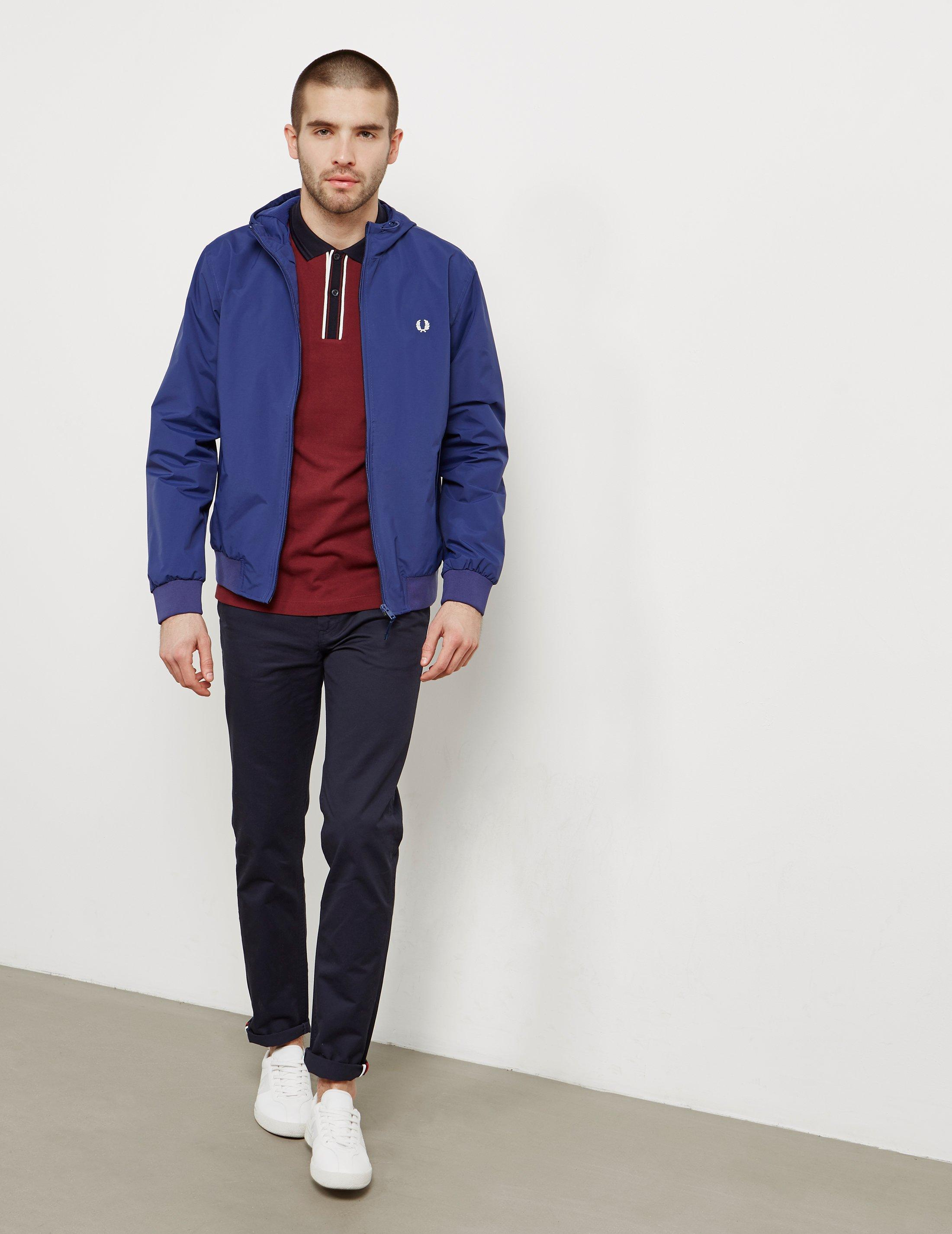 Fred Perry Mens Brentham Hooded Lightweight Jacket Navy Blue for Men