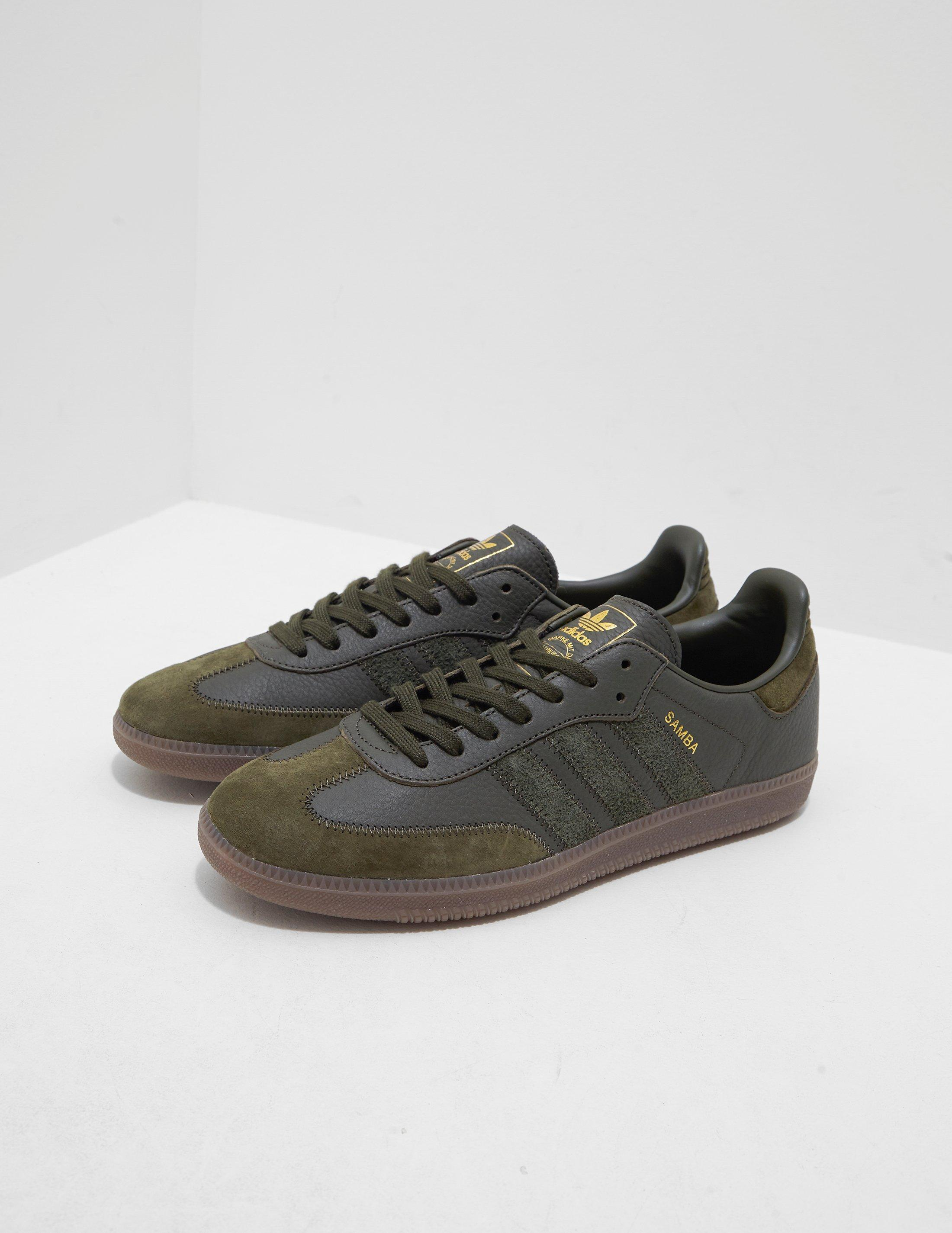 1d1a39bd3a7 Lyst - adidas Originals Samba Leather Og Olive olive in Green for Men