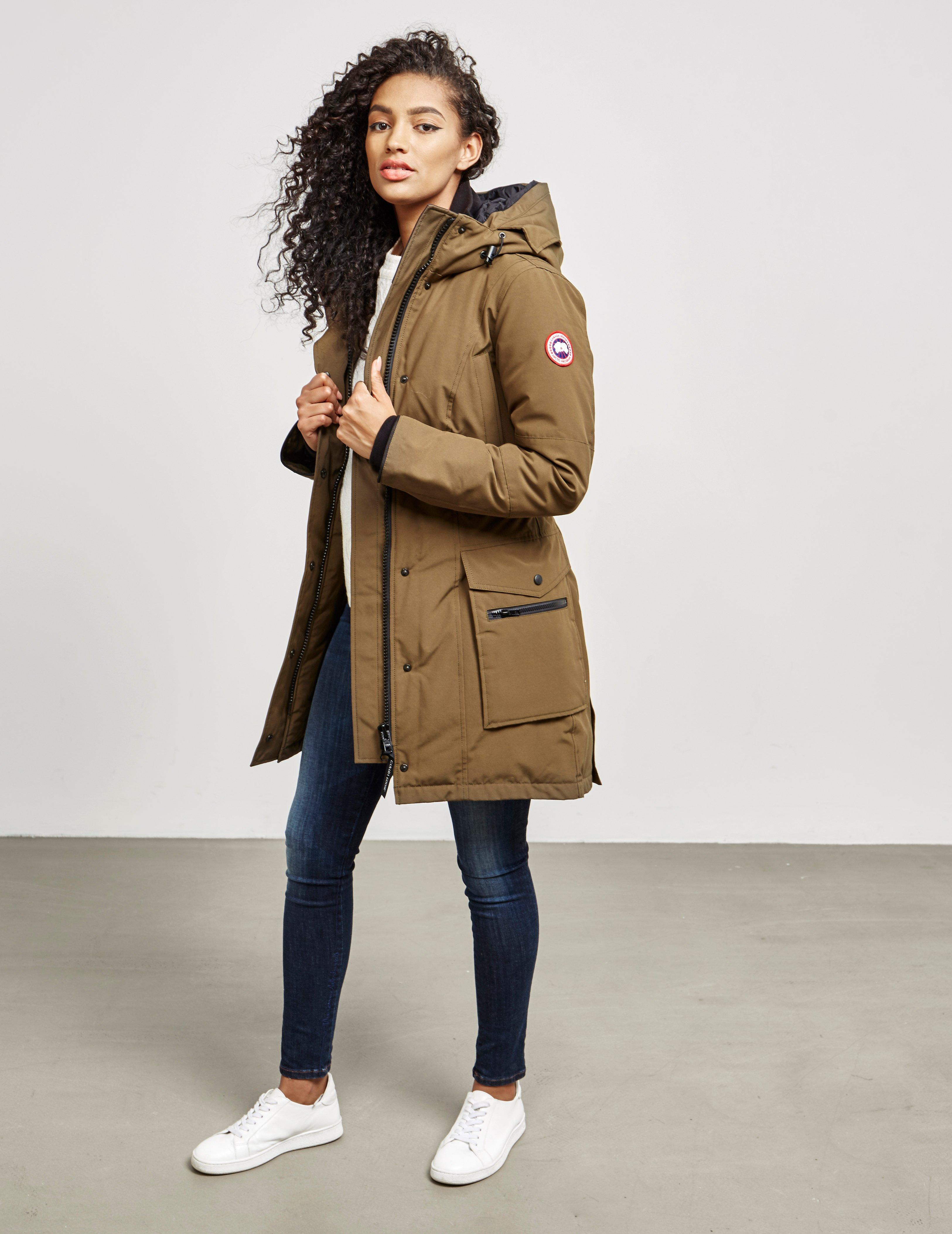 9dacbc196 Canada Goose Womens Kinley Parka Padded Jacket Khaki in Natural - Lyst