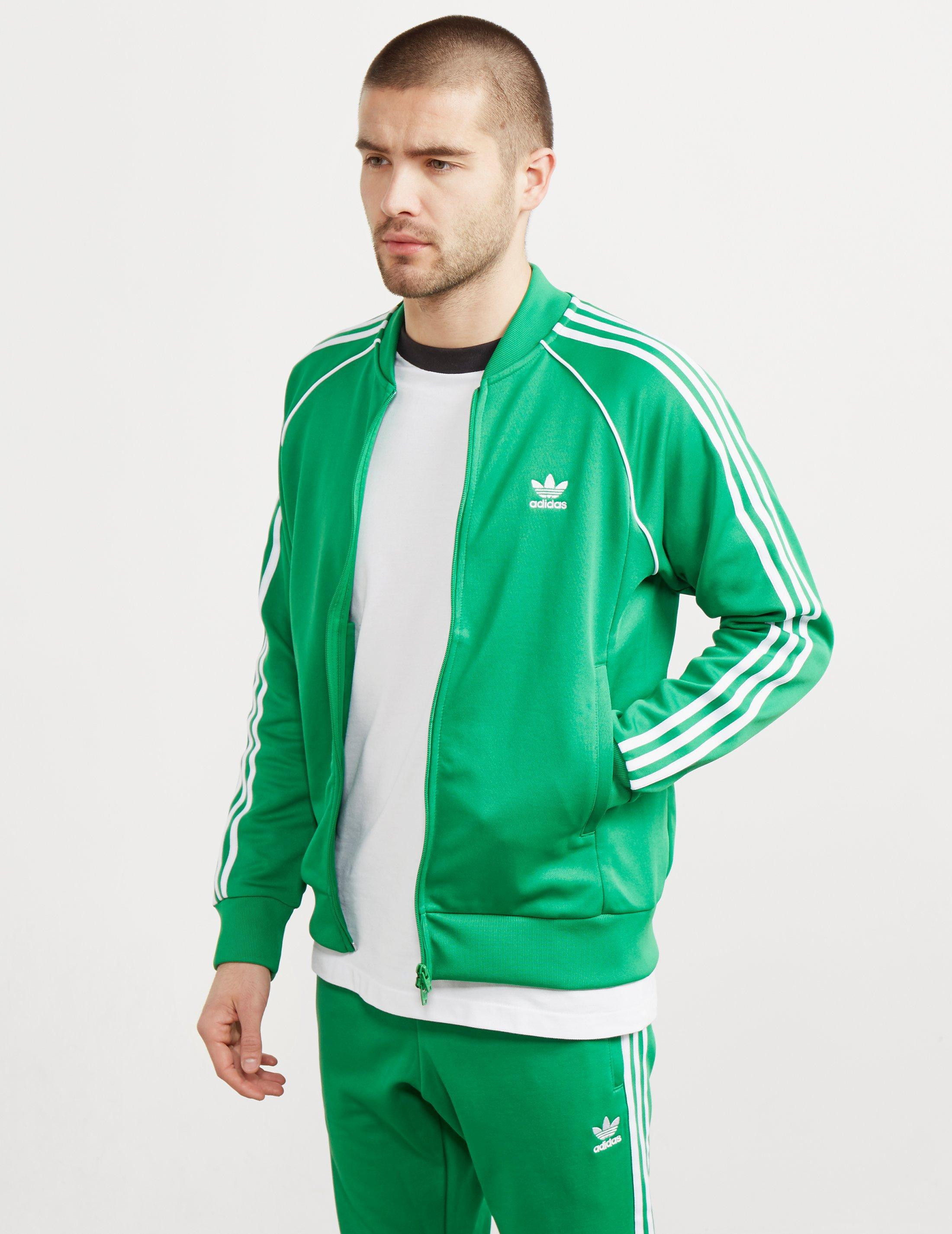 adidas originals zip green