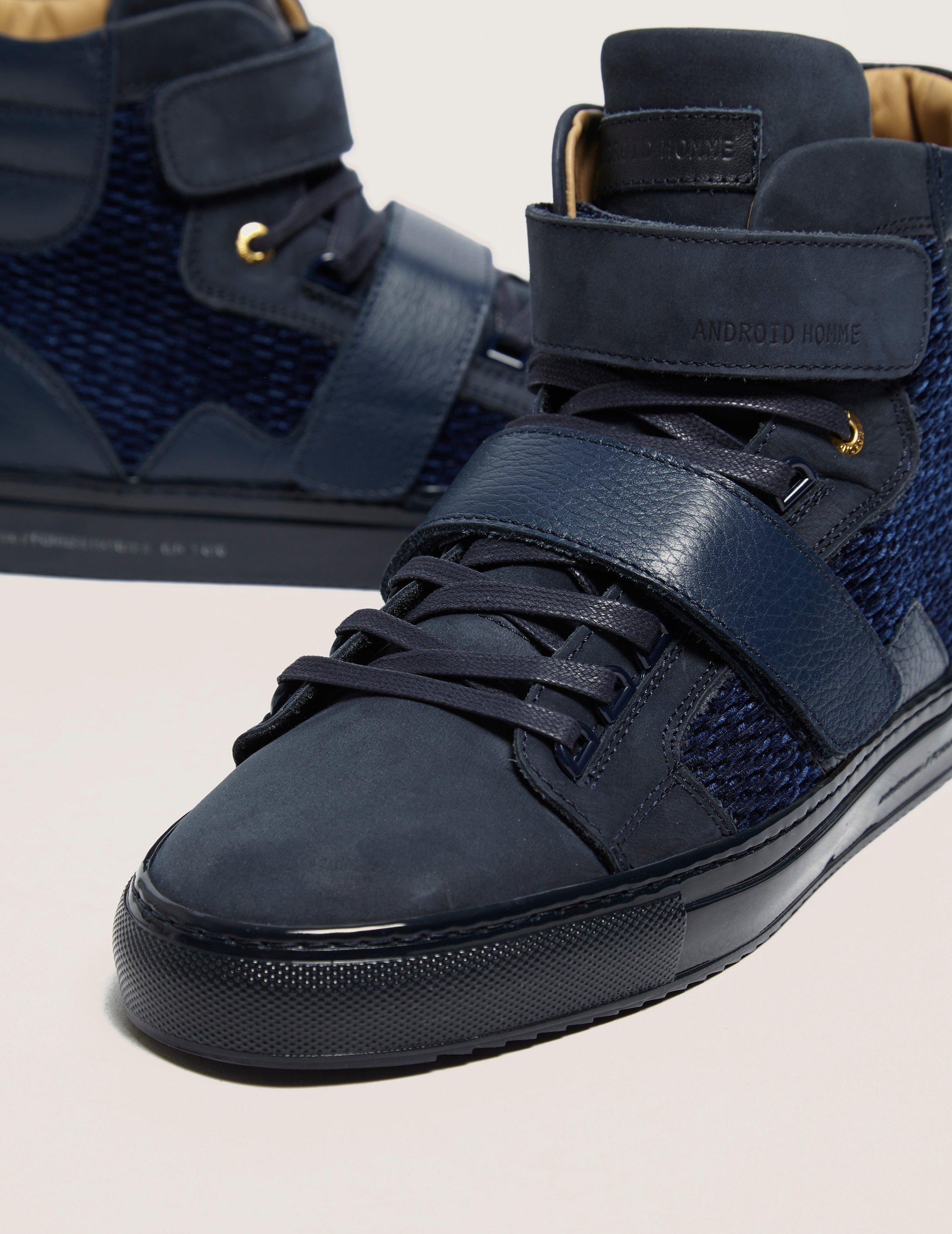Android Homme Leather Propulsion Hi In Navy Blue For Men Lyst