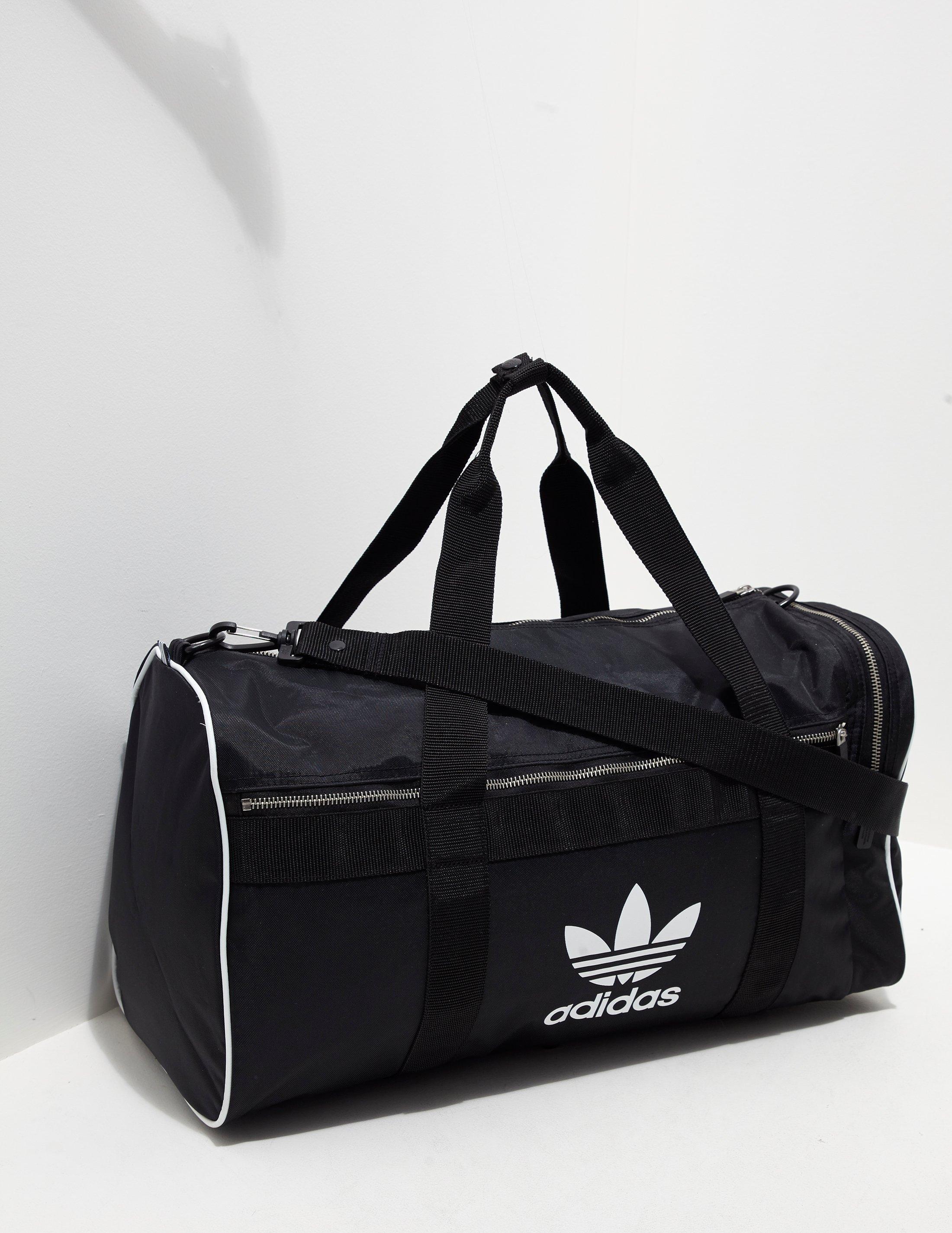 Mens Trefoil Duffel Bag Black