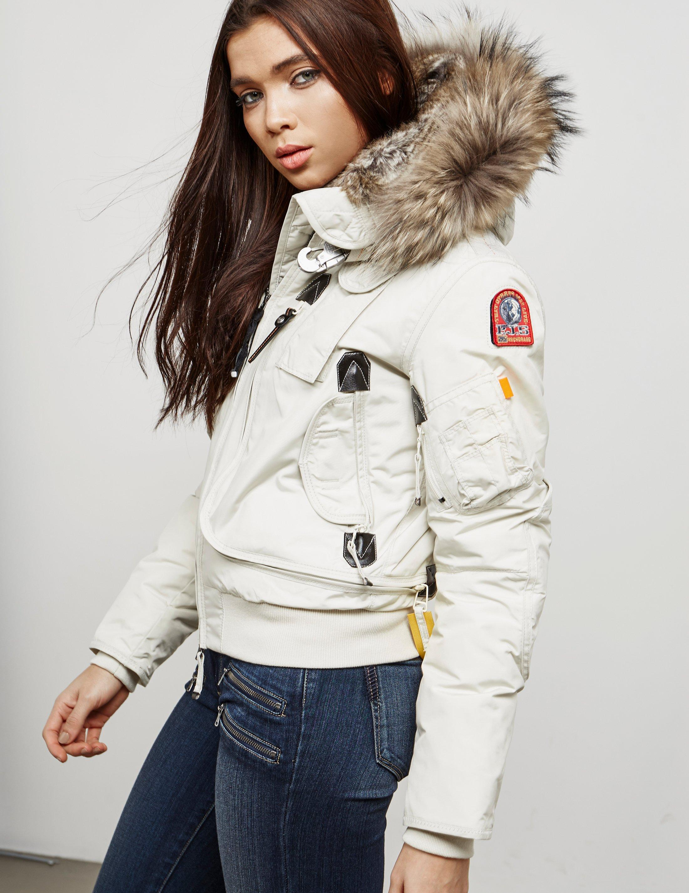 Parajumpers. Womens Gobi Short Padded Jacket Chalk