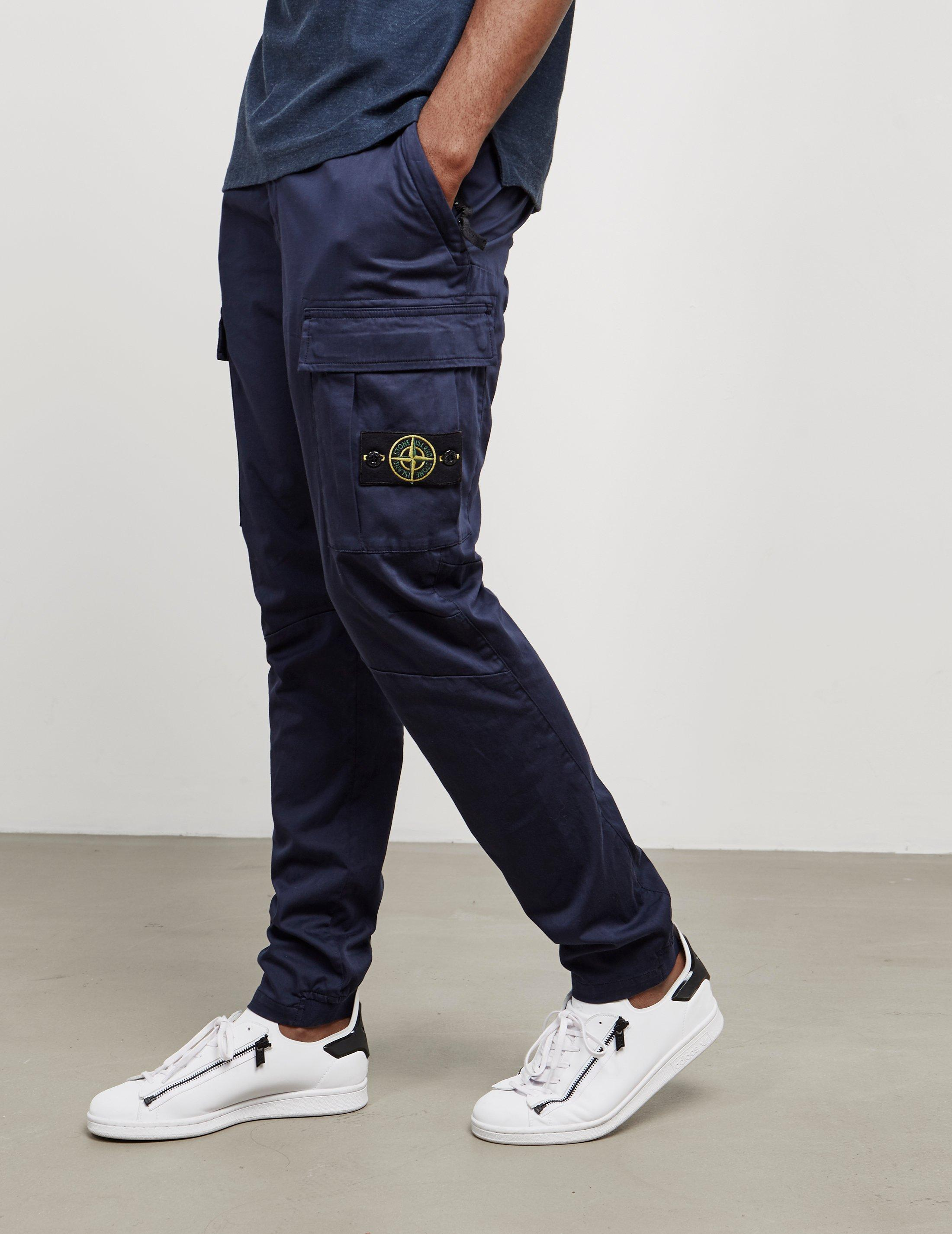 Stone Island Mens Garment Dyed Cargo Pants Navy Blue for ...