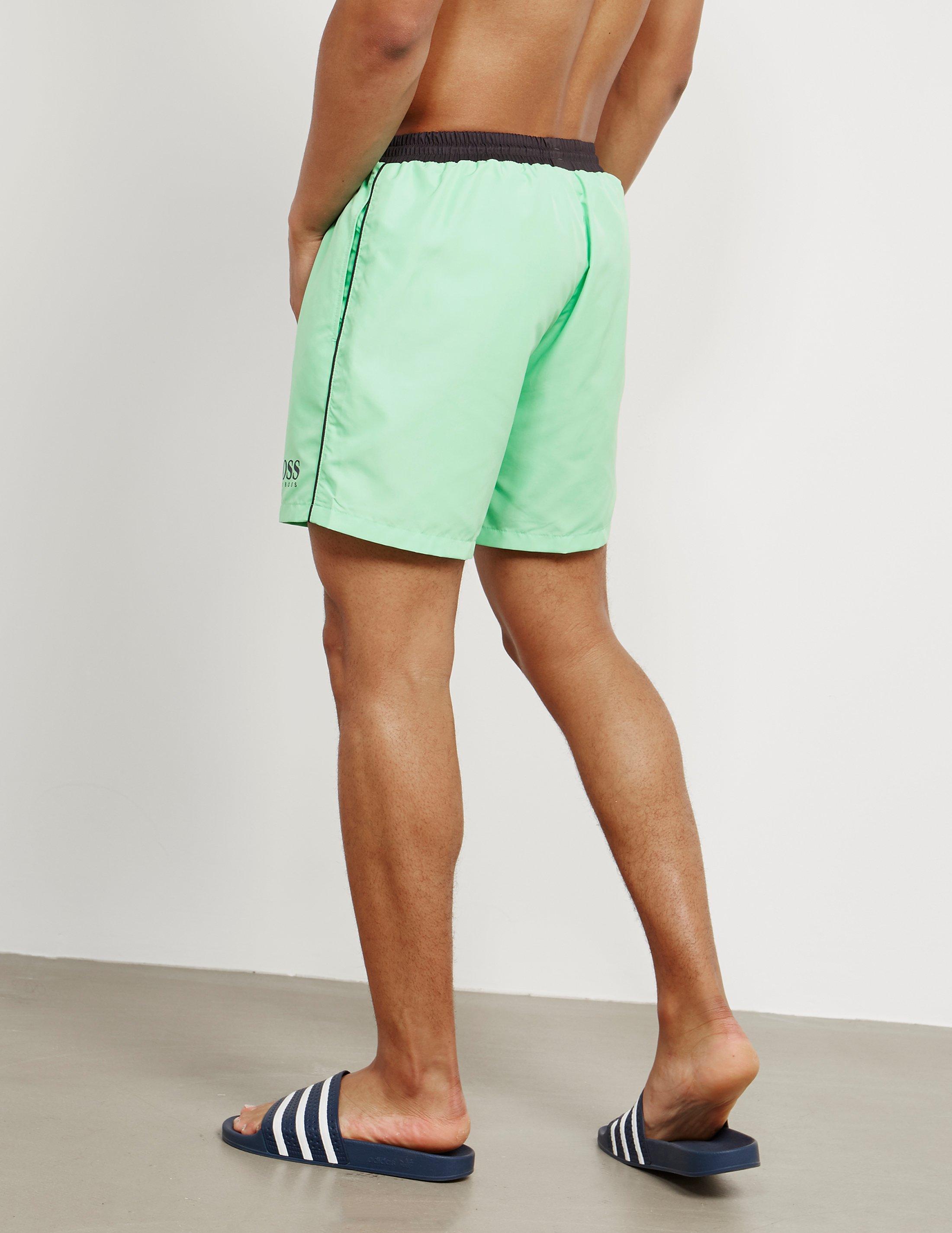 hugo boss shorts green
