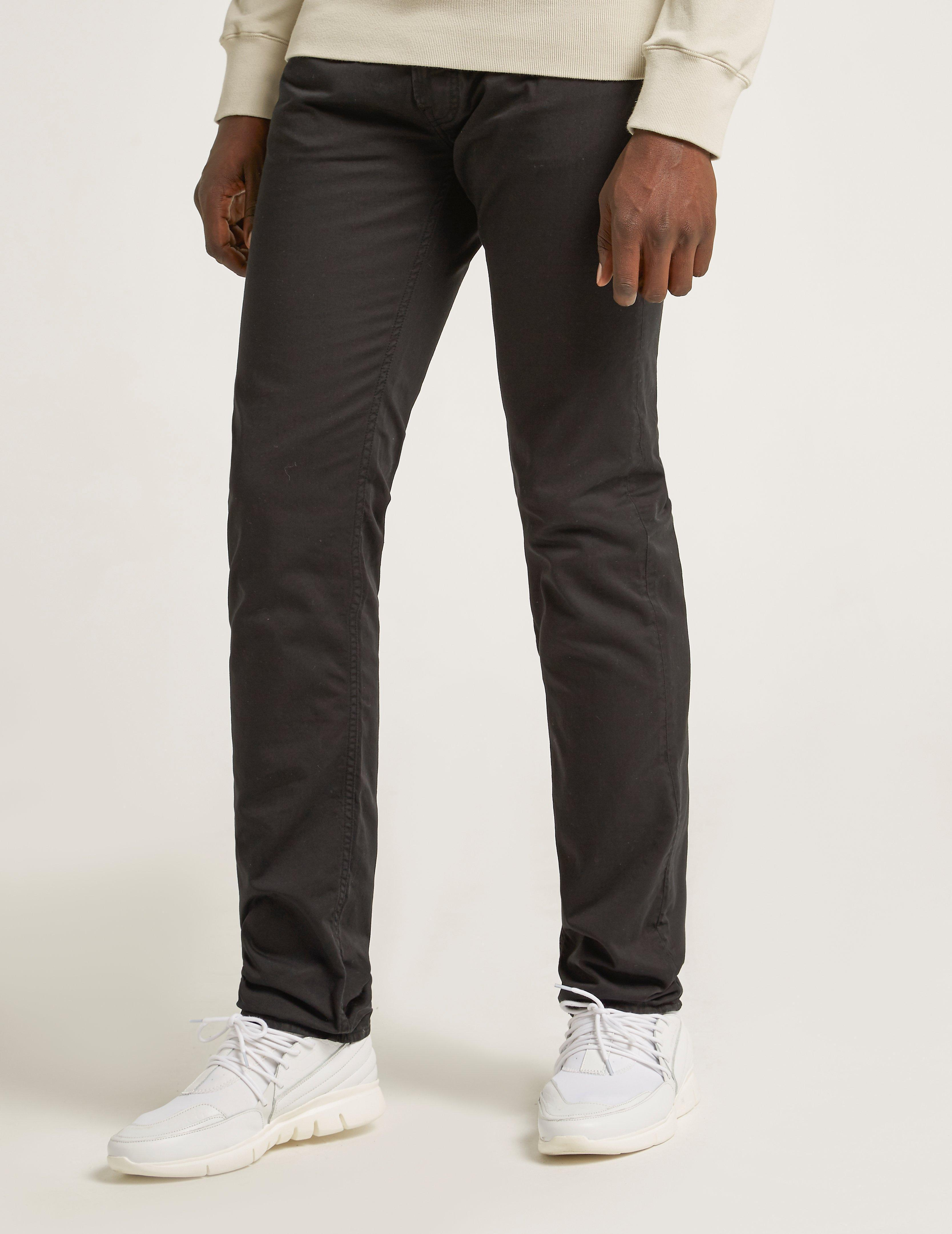 Stone Island Denim Slim Satine Gabardine Jeans Black for Men