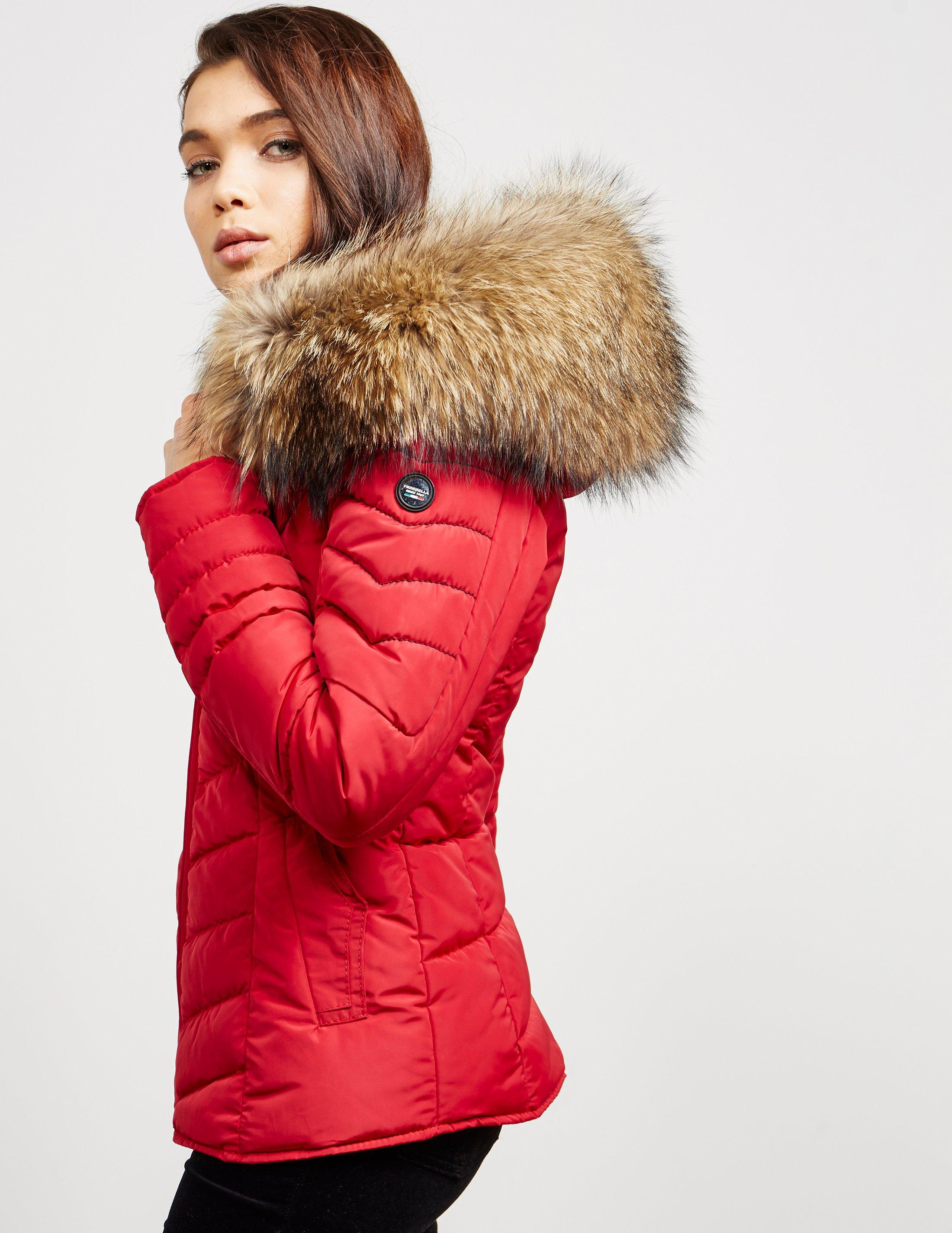 Lyst Froccella Womens Chevron Padded Jacket Red In Red