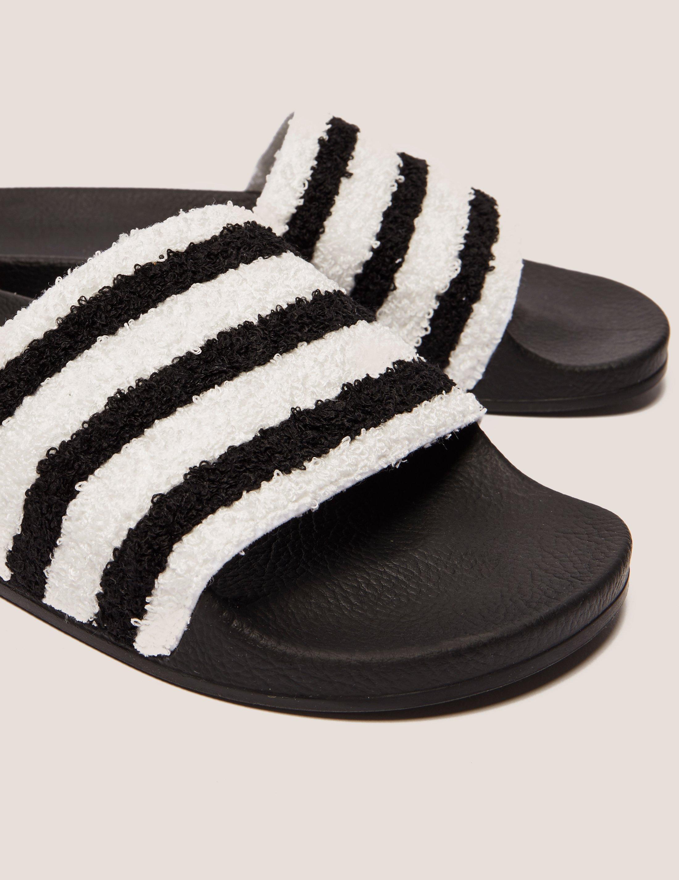 4a13e1aa3f18b4 adidas Originals Adilette Towel Slides in Black for Men - Lyst