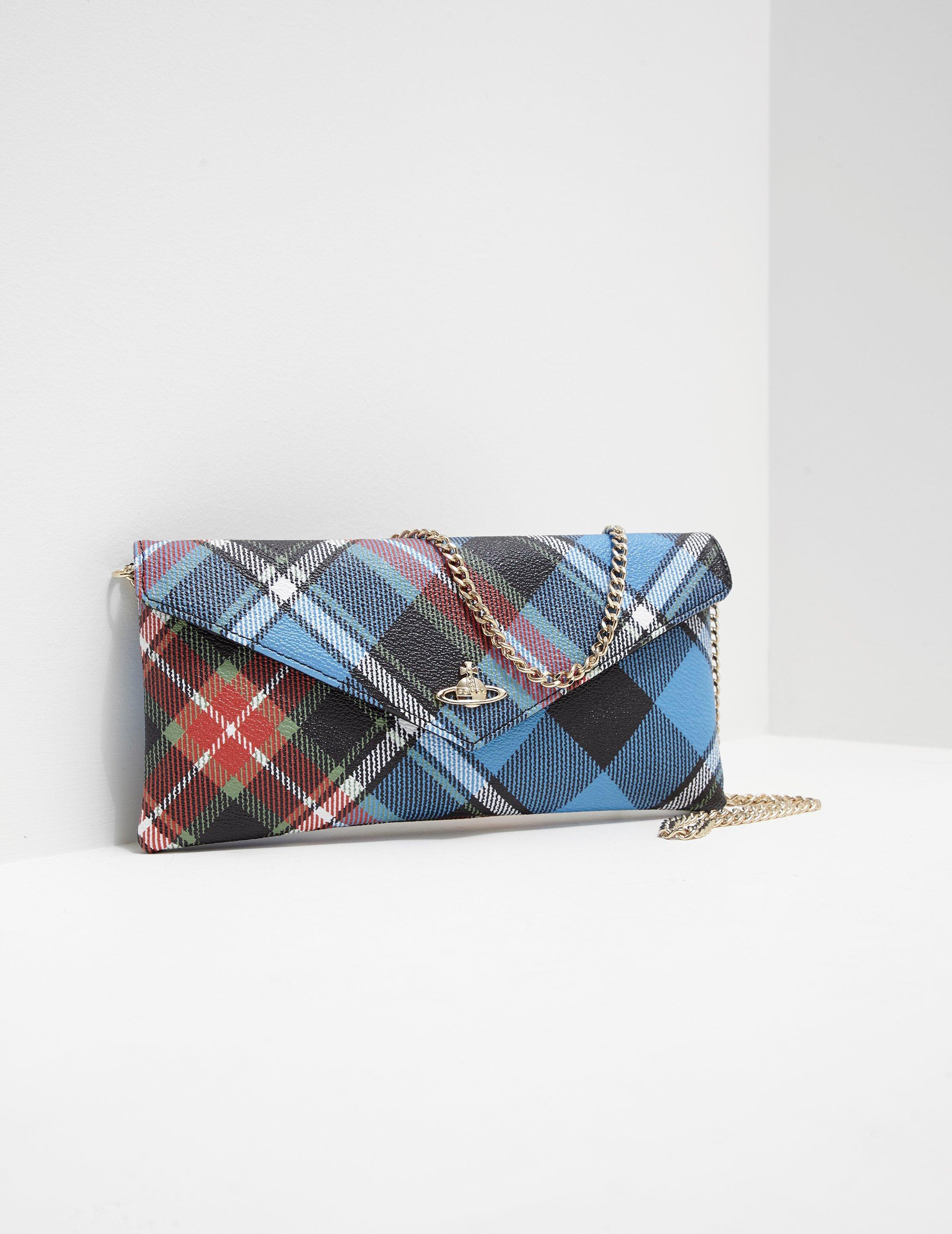 Vivienne Westwood Womens Edinburgh Flap Purse Multi in Blue - Lyst 2f78148299dcb