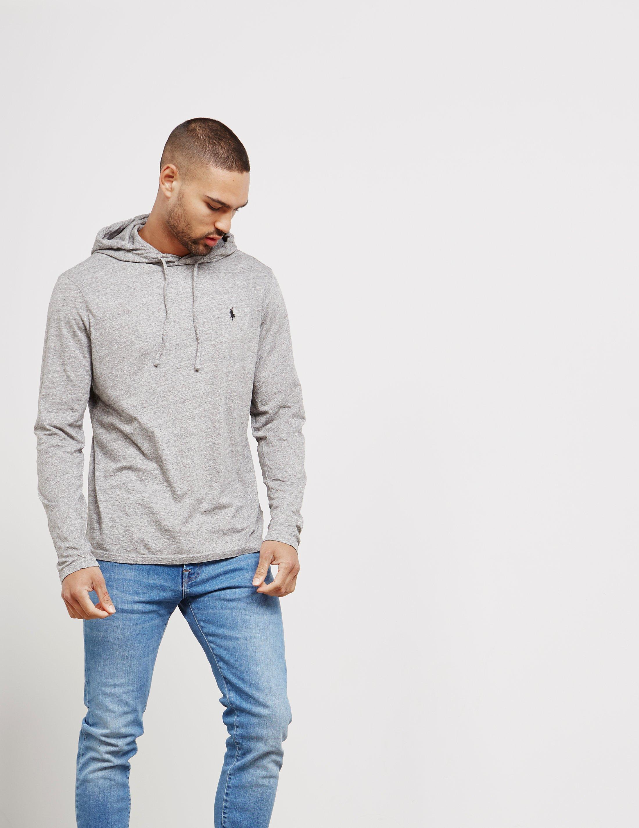 Men Cotton Shirt Lauren Gray Jersey Ralph Polo Hooded For T BoWdrexC