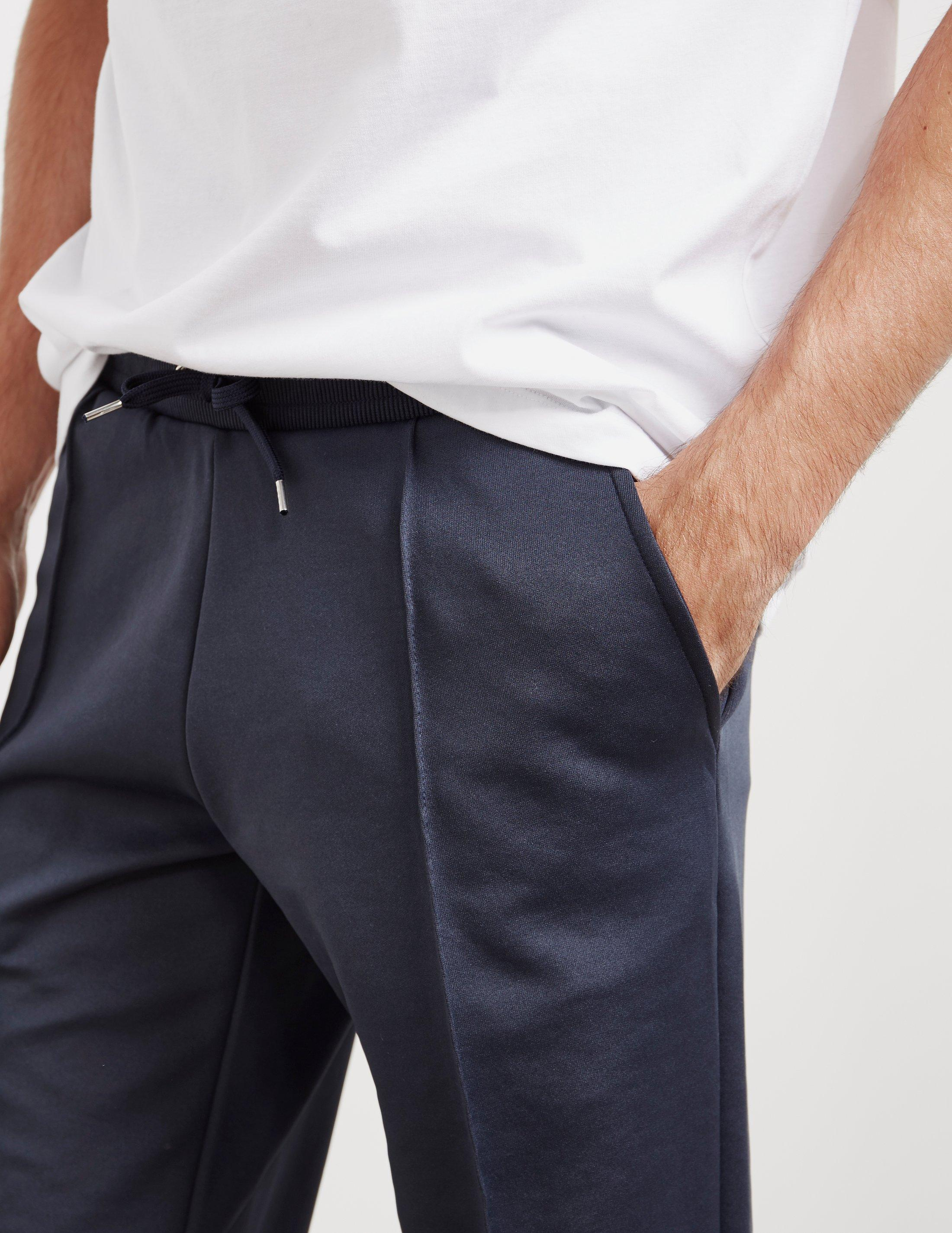 Les Deux Synthetic Mens Hermite Track Pants Navy Blue for Men
