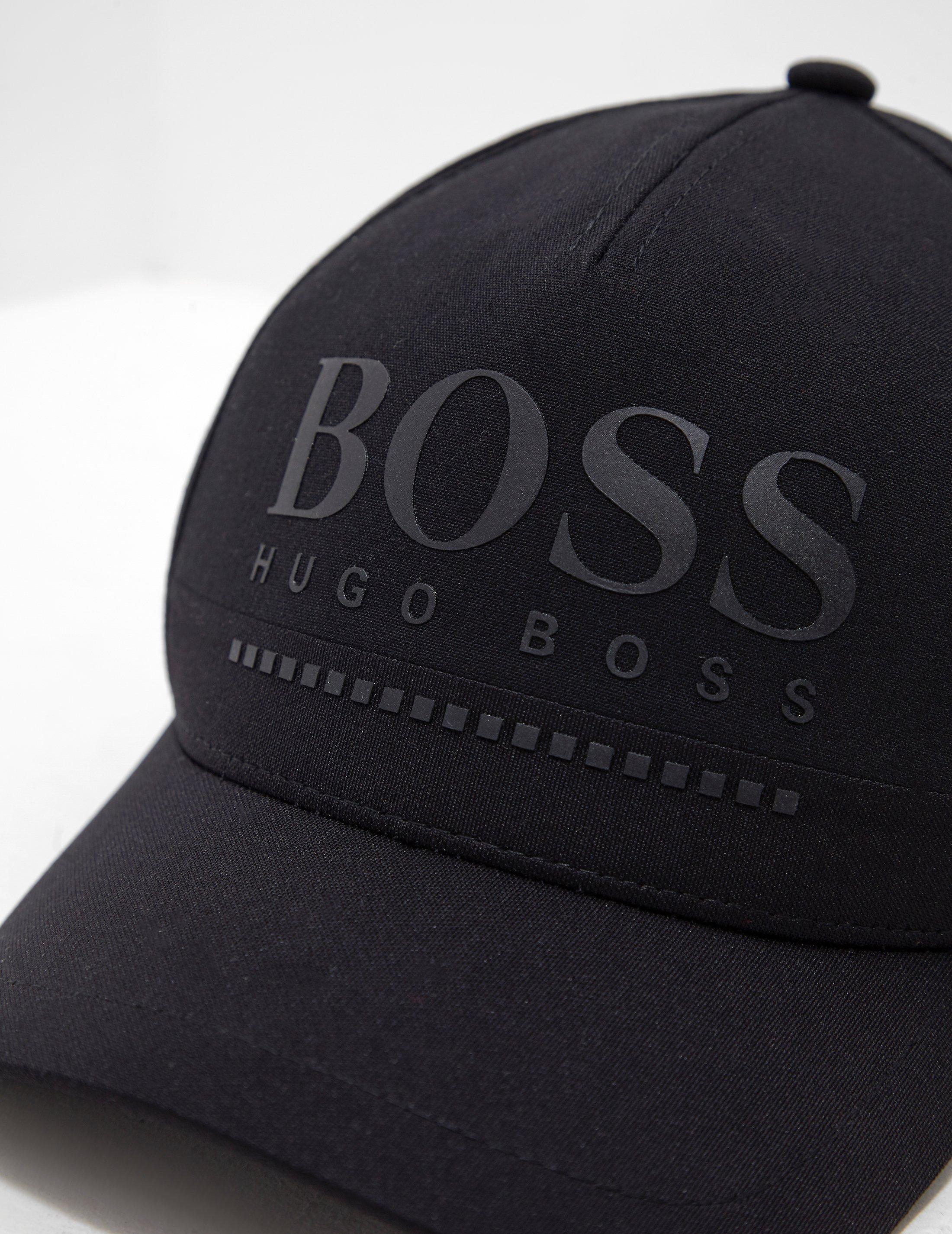 25c3bb33 BOSS Rubber Logo Cap Black in Black for Men - Lyst
