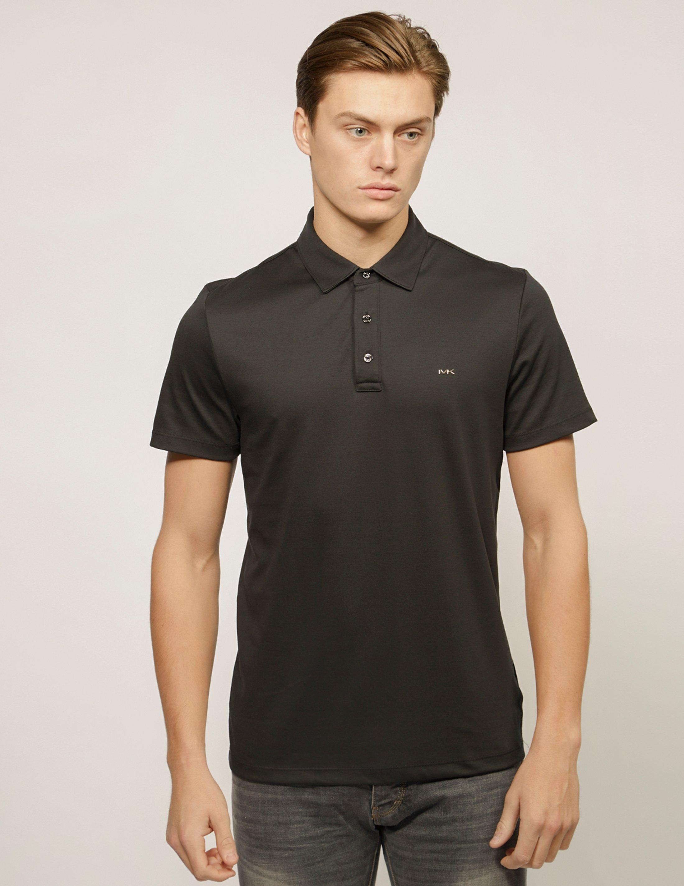 de9305c2b Lyst - Michael Kors Mens Sleek Short Sleeve Polo Shirt Black in ...