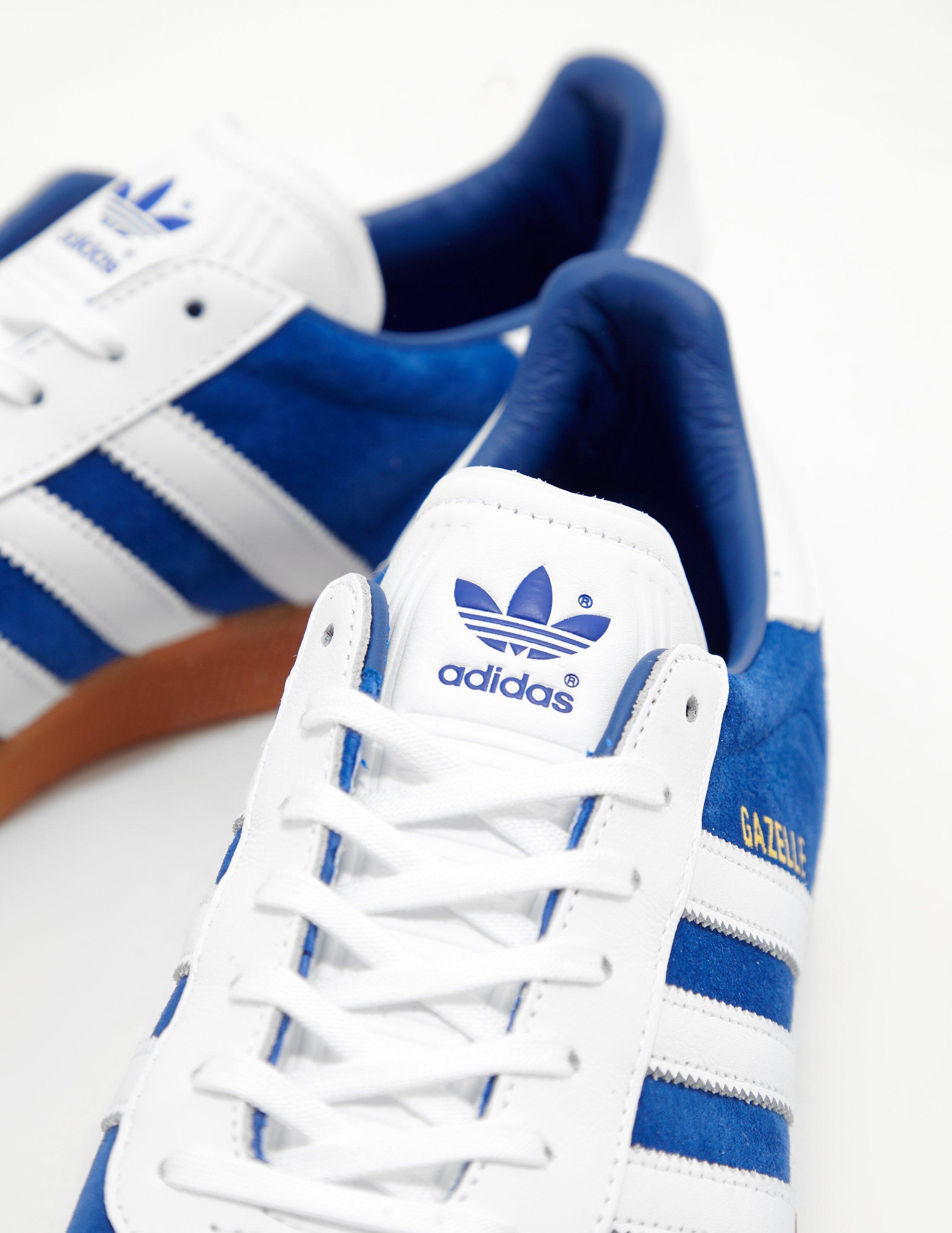 new concept c1af8 989aa Adidas Originals Mens Gazelle Blue in Blue for Men - Lyst