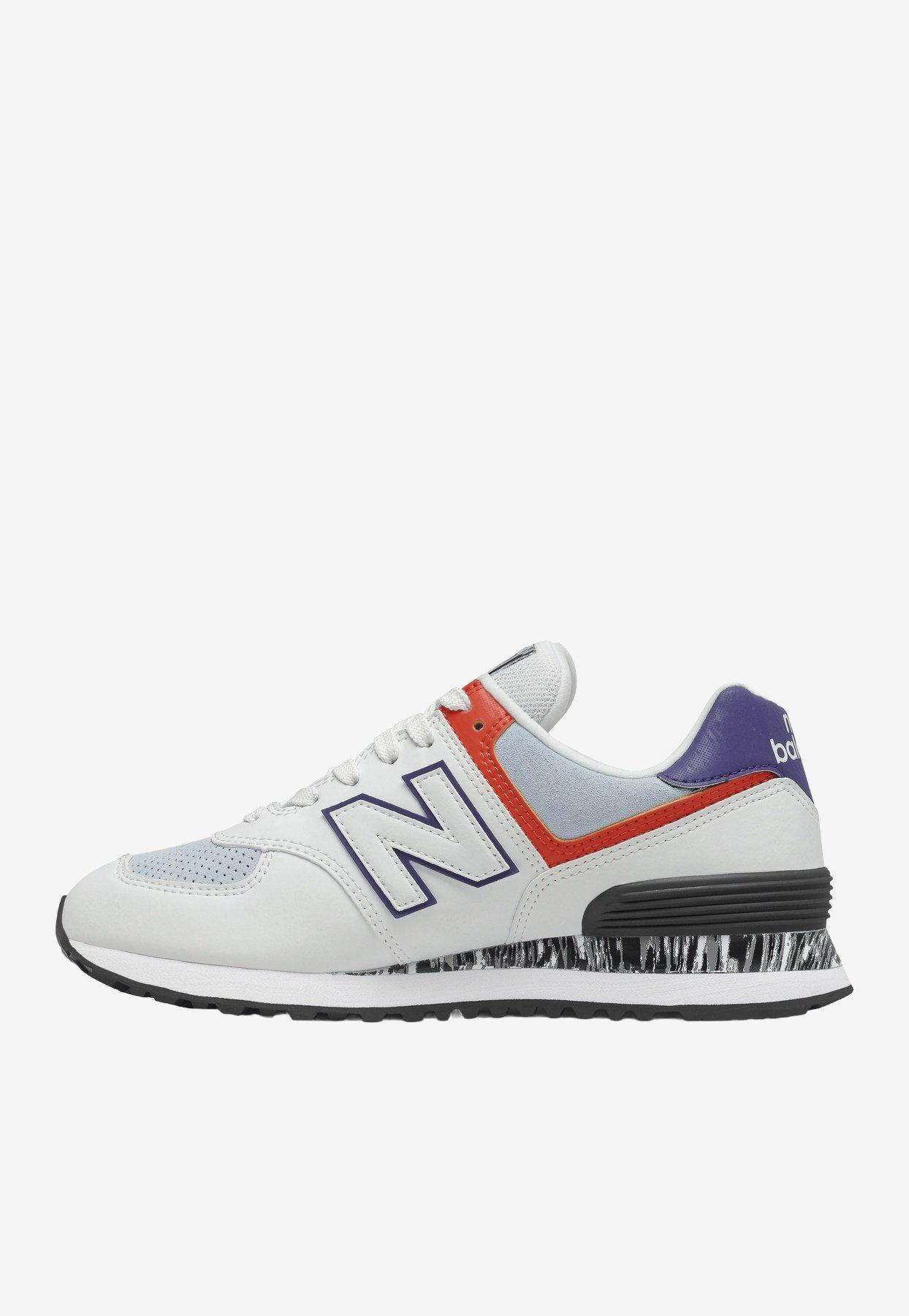New Balance Leather 574 Sneakers In Ghost Pepper Eu 37 in White - Lyst