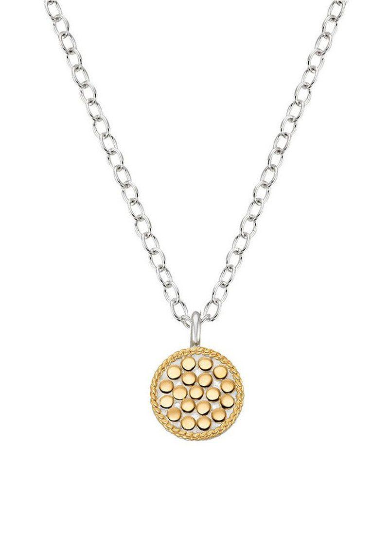 Anna Beck Mini Circle Reversible Necklace in Gold (Metallic)