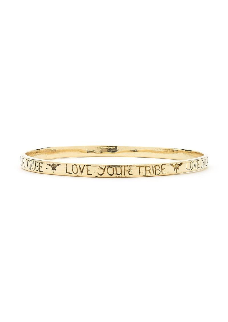 Tribe Fable Love Your Tribe Bangle In Metallic Lyst