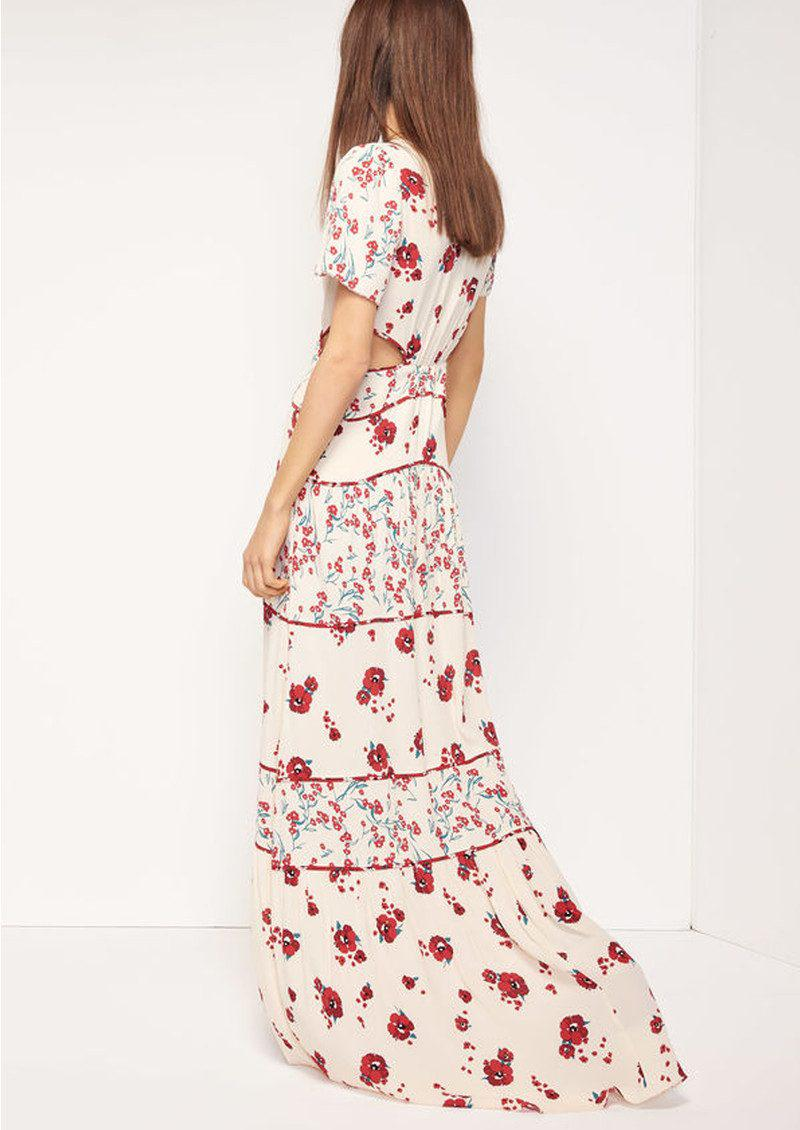 Ba Amp Sh Synthetic Blush Floral Maxi Dress In Pink Lyst