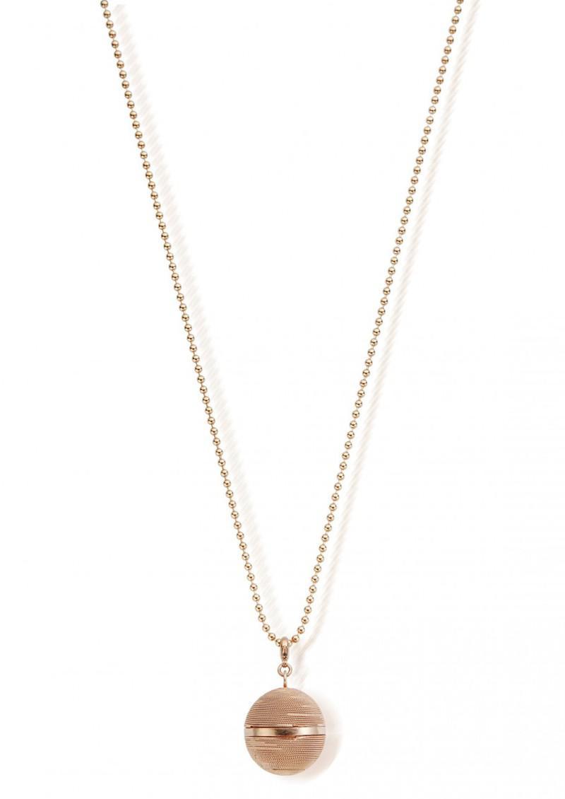ChloBo Starry Eyes Ball Chain & Harmony Ball Necklace in Gold (Metallic)