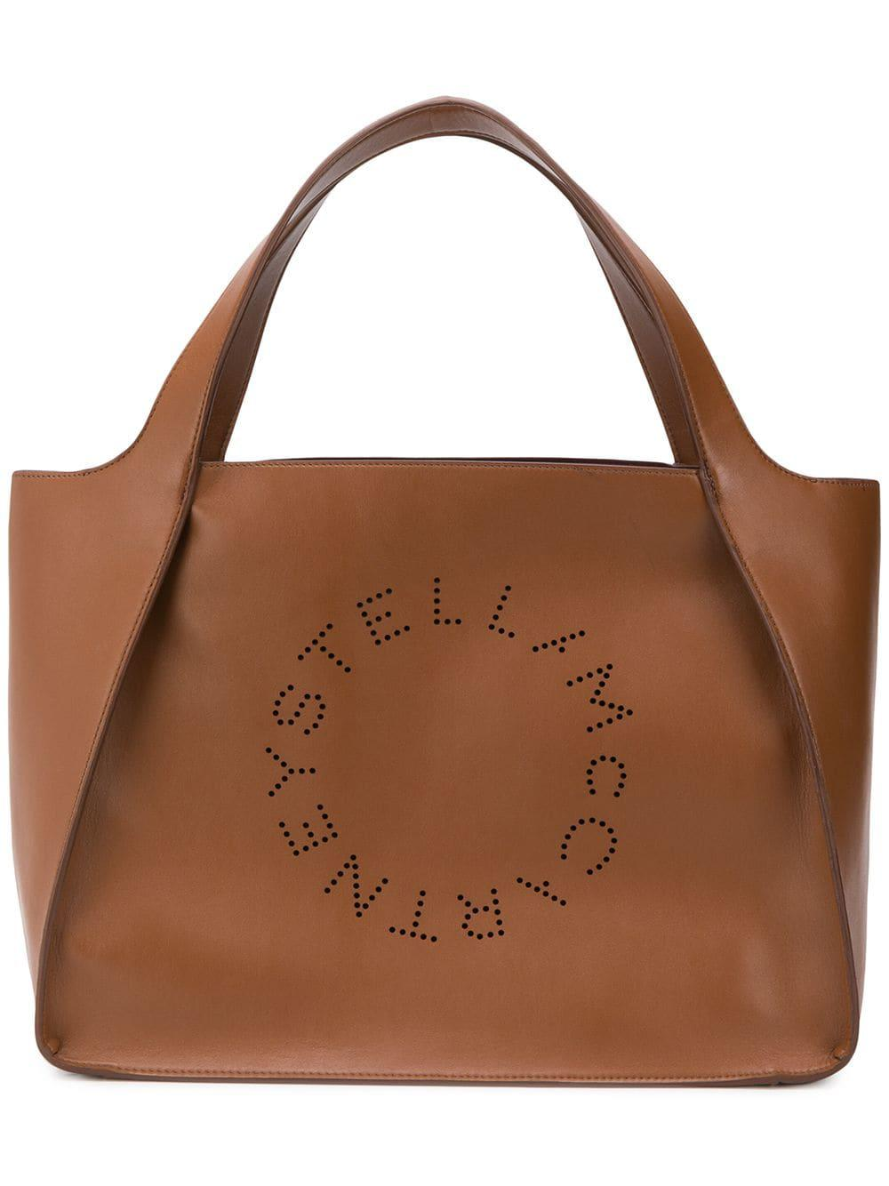 324b45e7b54ac Lyst - Stella Mccartney Alter Perforated Tote in Brown