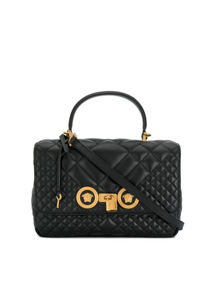 0379a2d075186 Versace Quilted Icon Dual Carry Bag in Black - Lyst