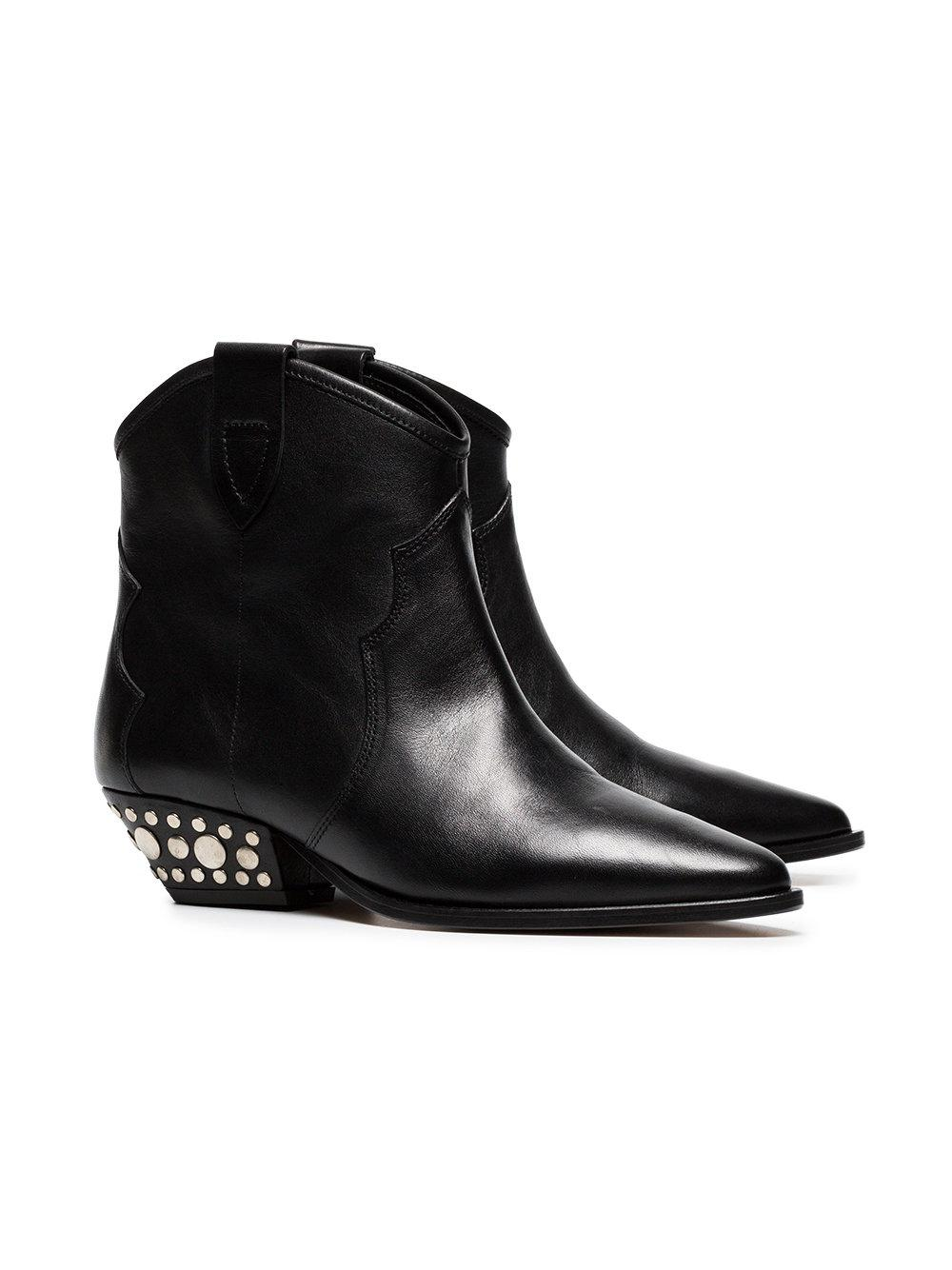 0d46df9f742 Isabel Marant Black Dawyna 40 Leather Ankle Boots