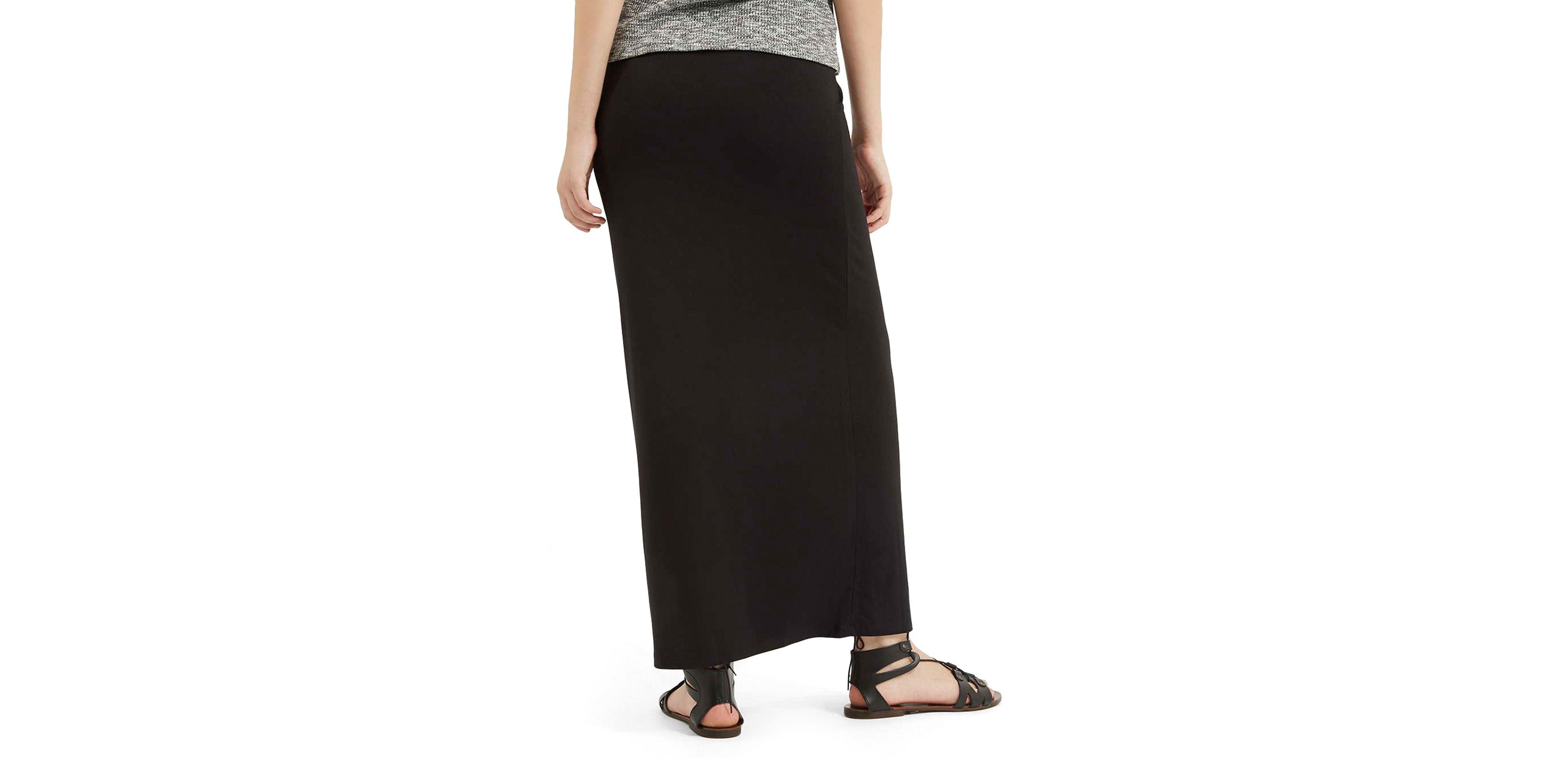 topshop wrap maxi skirt in black lyst
