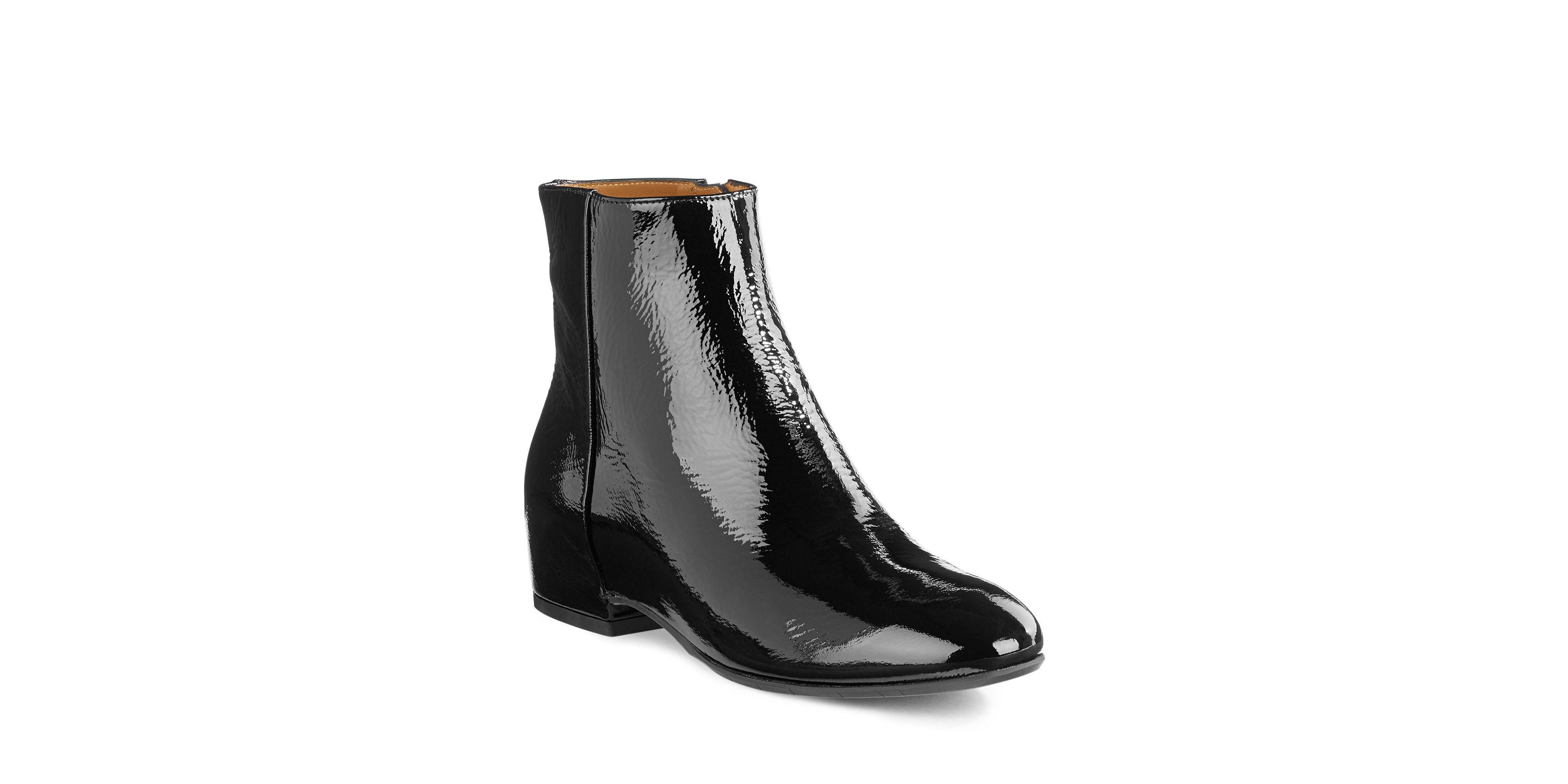 aquatalia uri patent leather ankle boots in black lyst
