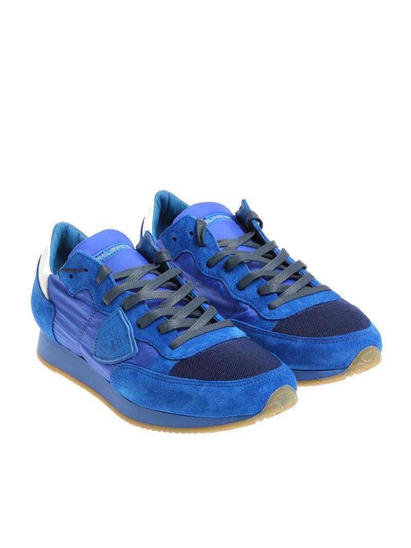 Electric blue Tropez L sneakers Philippe Model 7qDVr