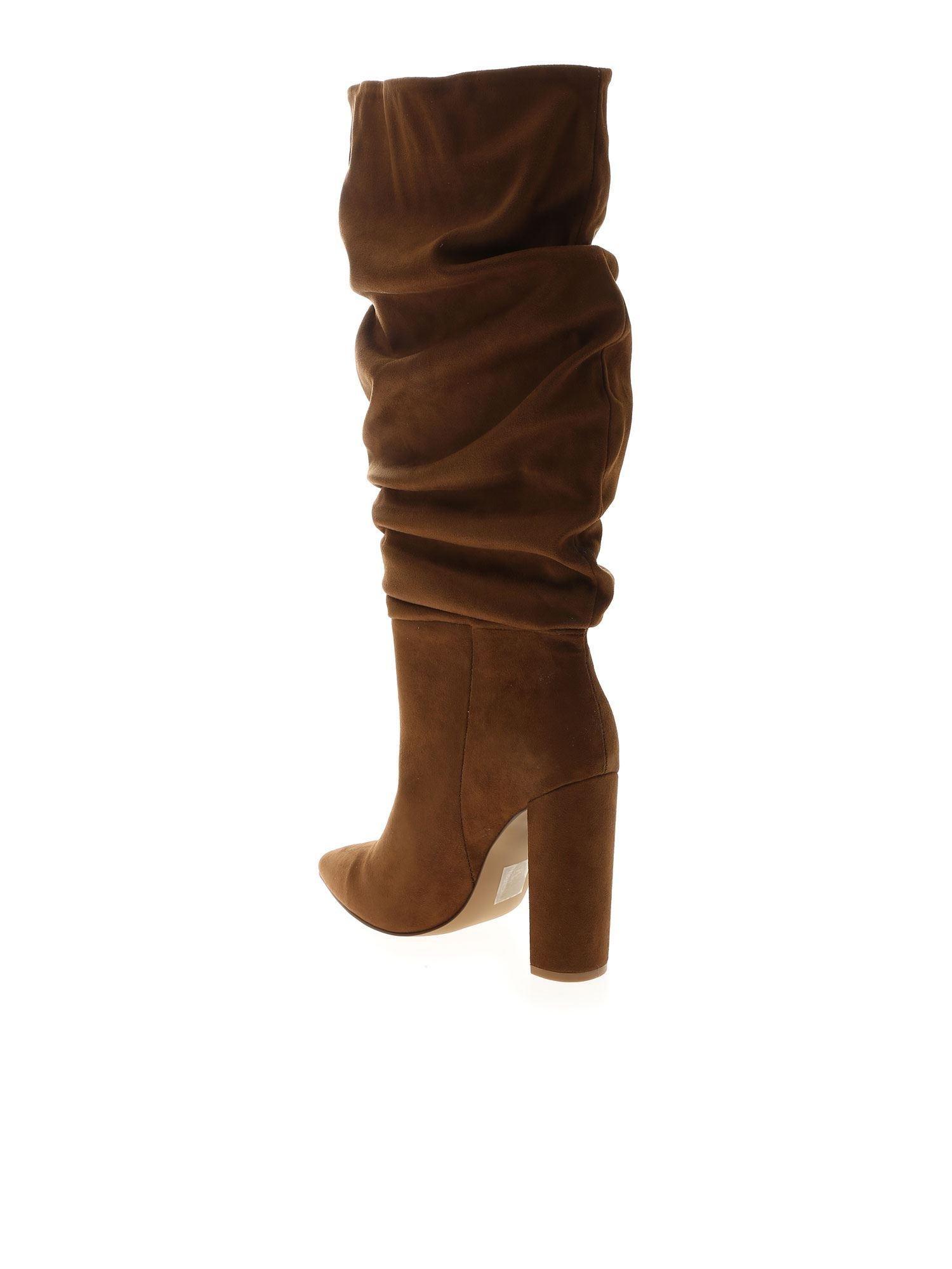 Steve Madden Slouch Boots In Brown - Lyst