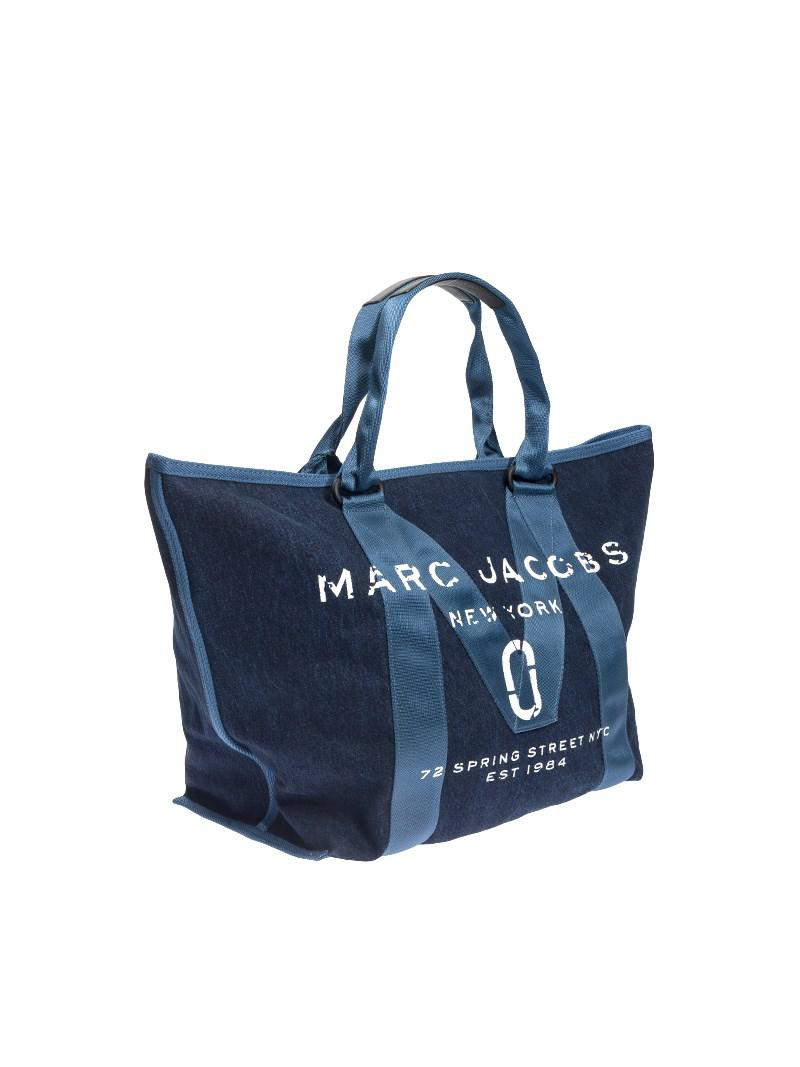 Marc Jacobs New Logo Small Tote Denim in Blue