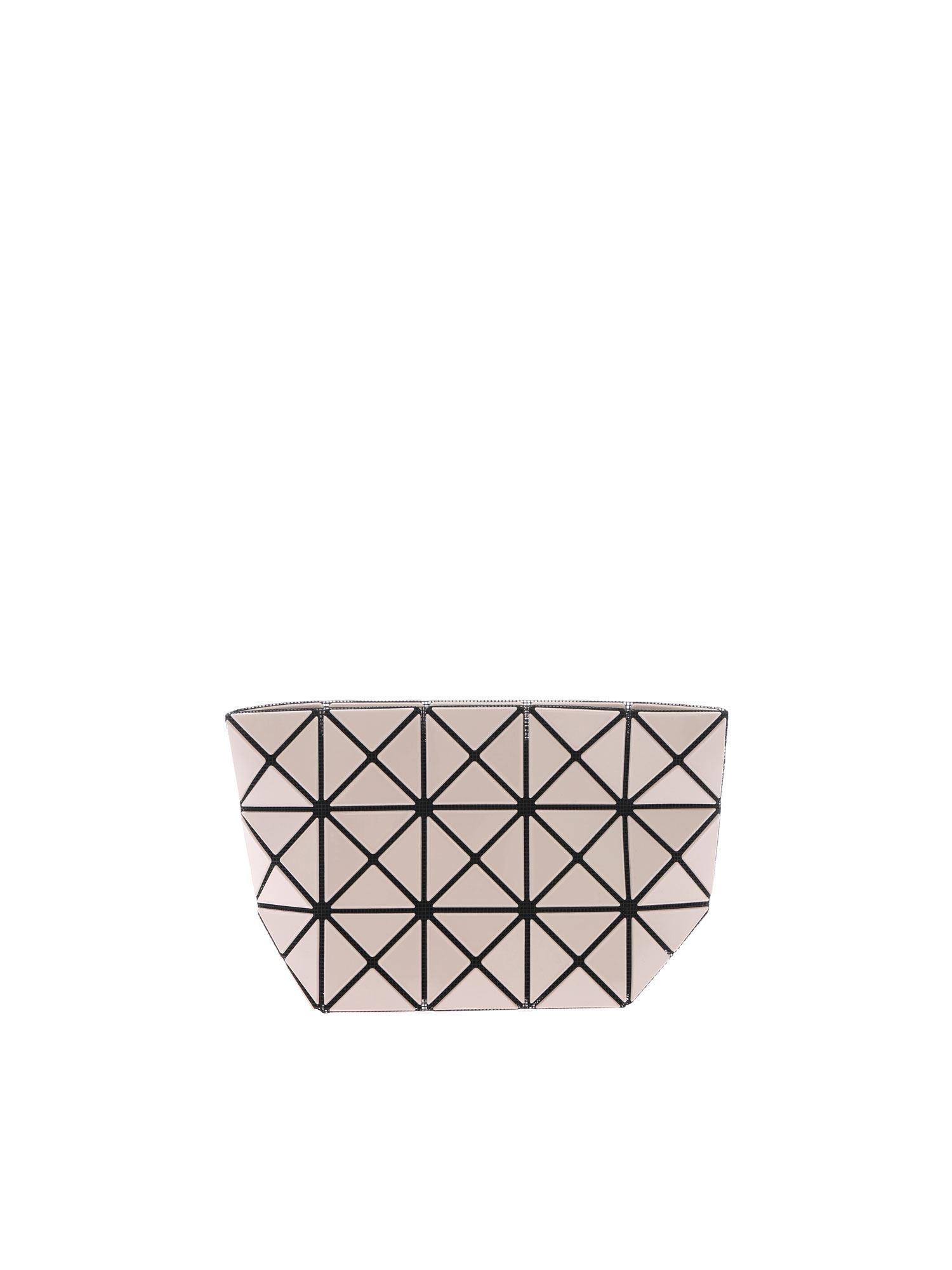 7fb84abcd533 Lyst - Bao Bao Issey Miyake Beige Prism Clutch With Triangles Motif ...