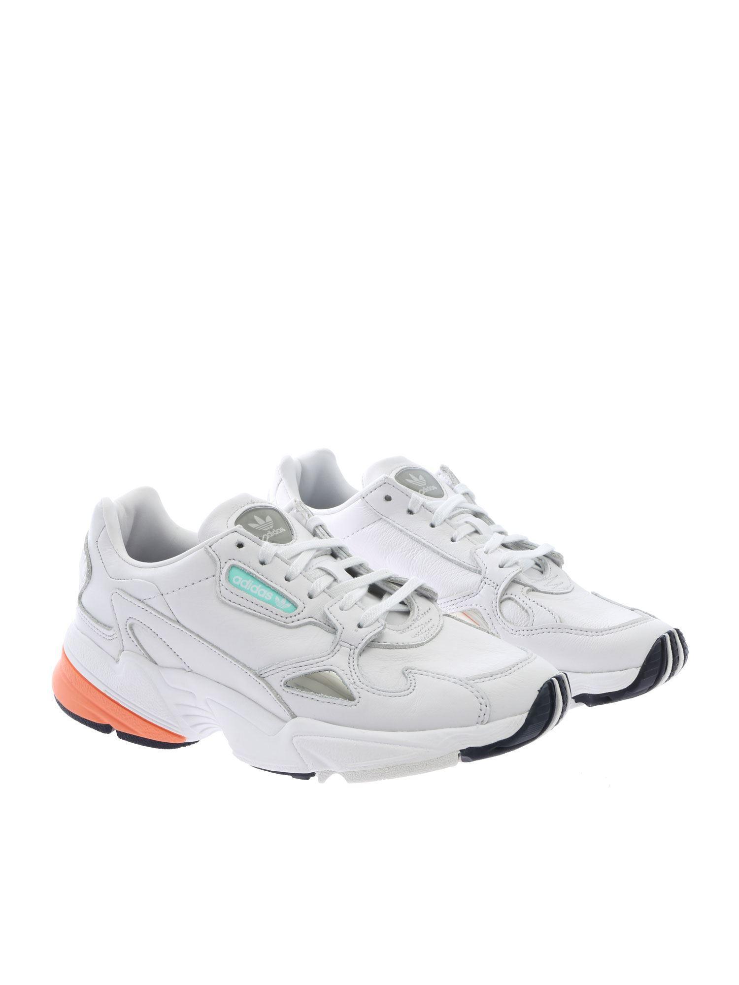 f0e3c55e7ba6 Adidas Originals - Falcon White Sneakers - Lyst. View fullscreen