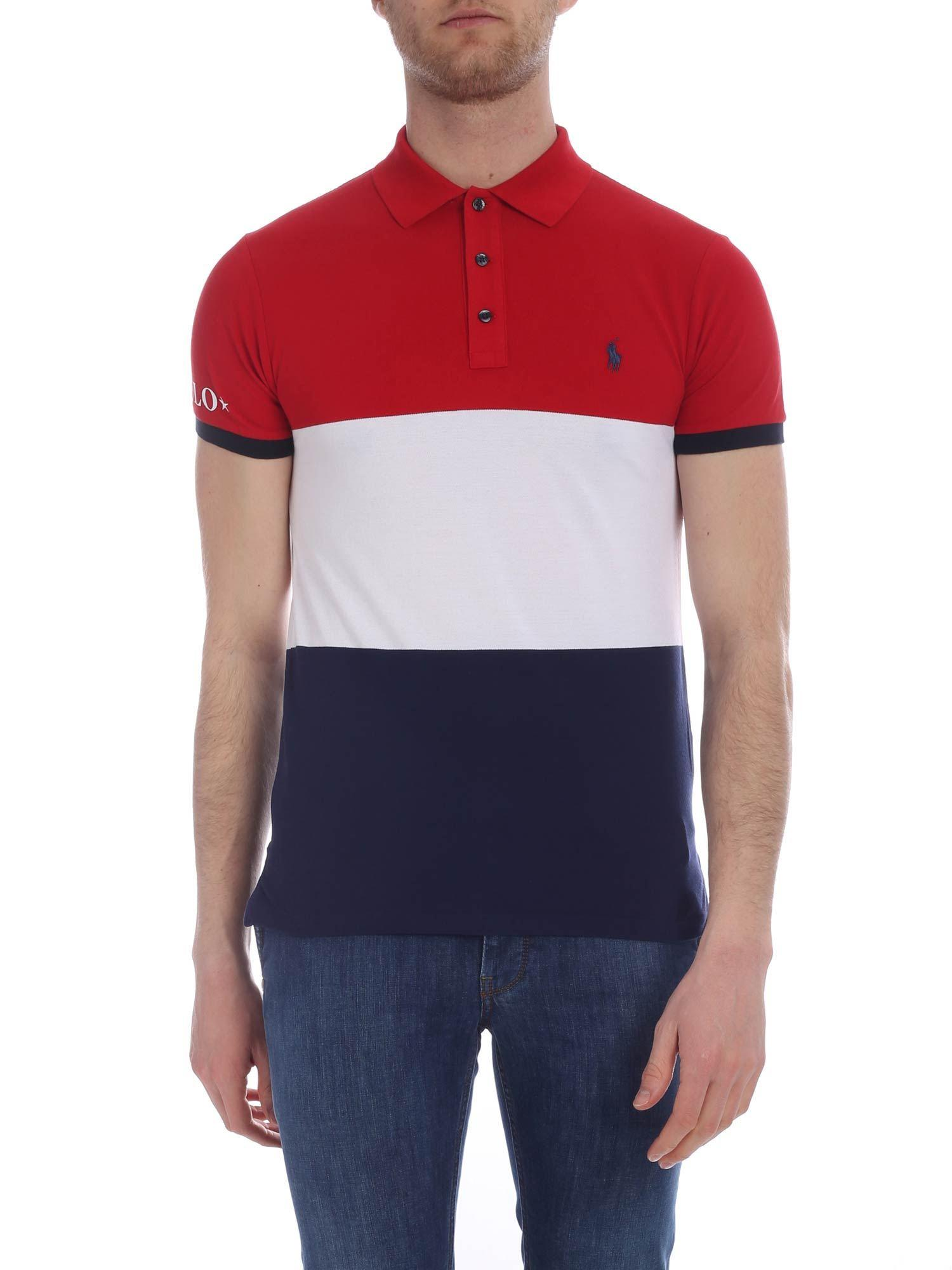 sapore dolce Incremento Ritenere  Polo Ralph Lauren Cotton Red, White And Blue Polo for Men - Lyst