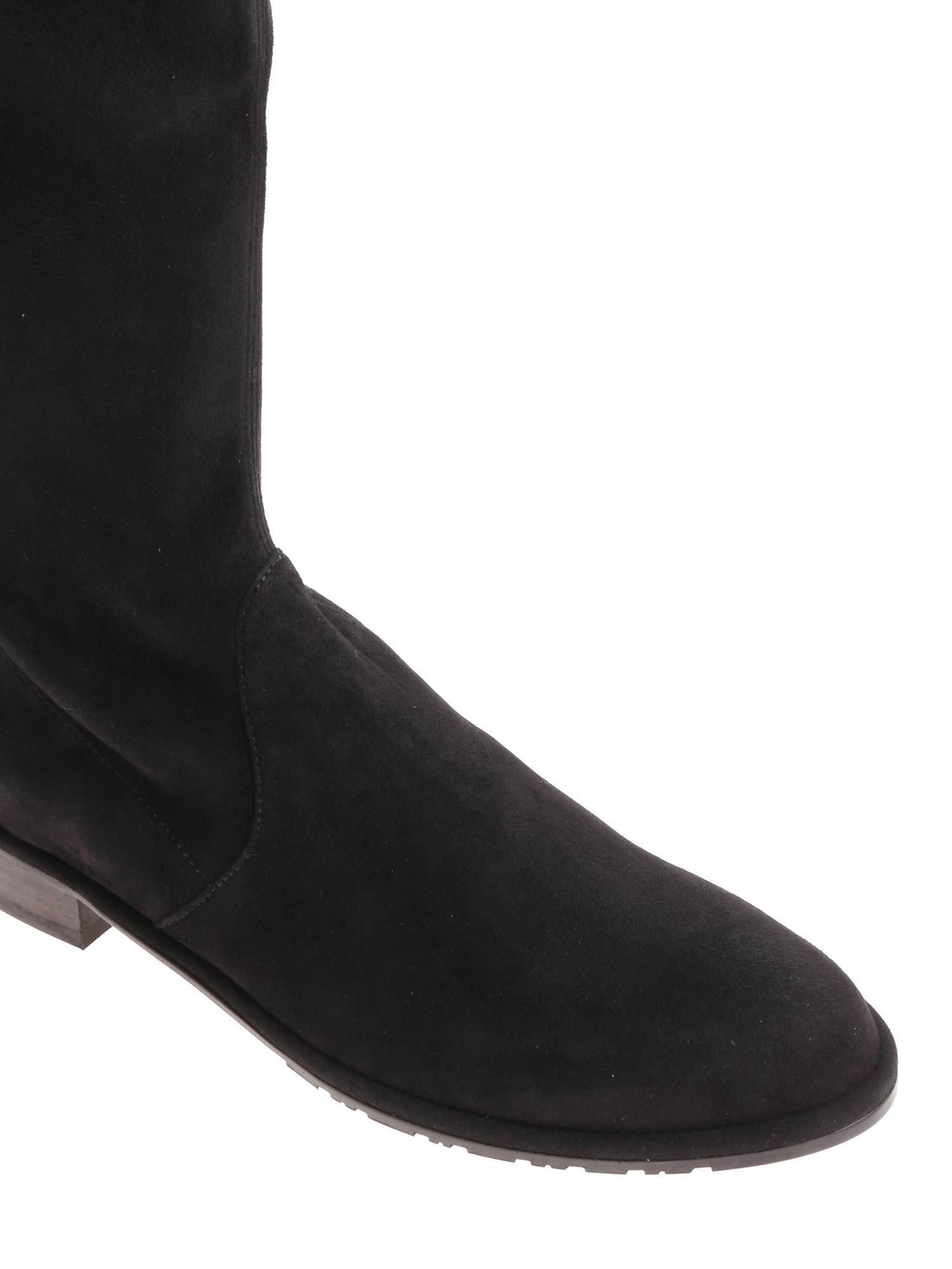 Stuart Weitzman Suede Black Lowland Boots