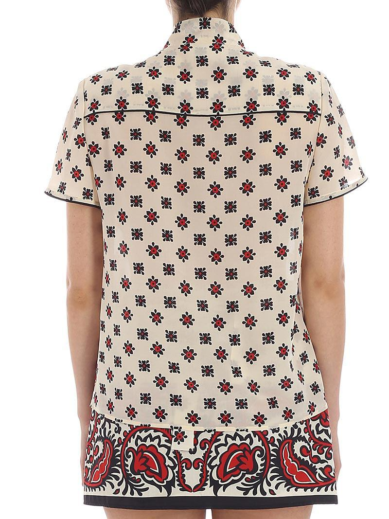 Cream color Bandhana printed blouse Red Valentino Free Shipping Outlet Best Prices Top Quality Sale Online 1gFL6Nlrjo