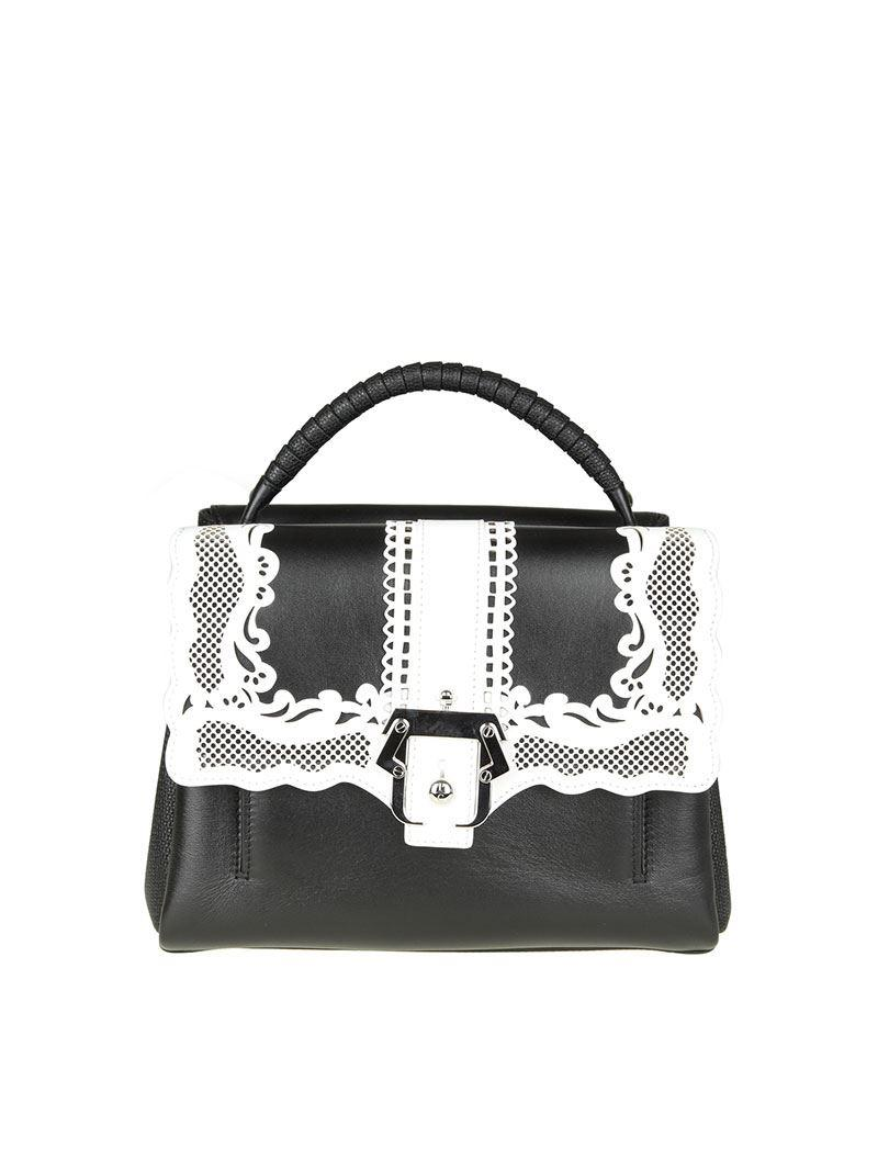 Black leather petit Faye bag Paula Cademartori ZSUhYc