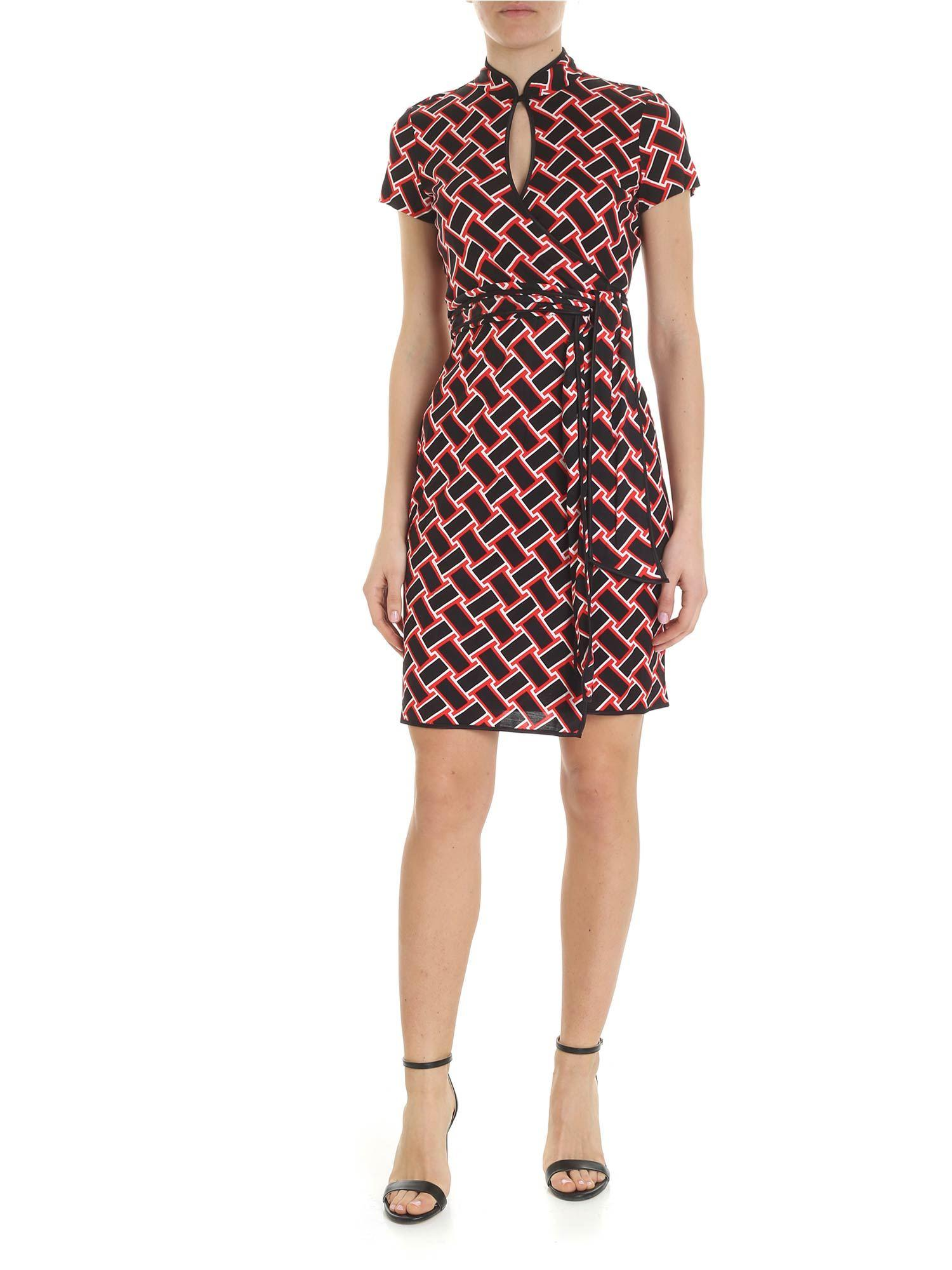 b2dbc1f298 Lyst - Diane von Furstenberg Jovie Dress In Black And Red in Black