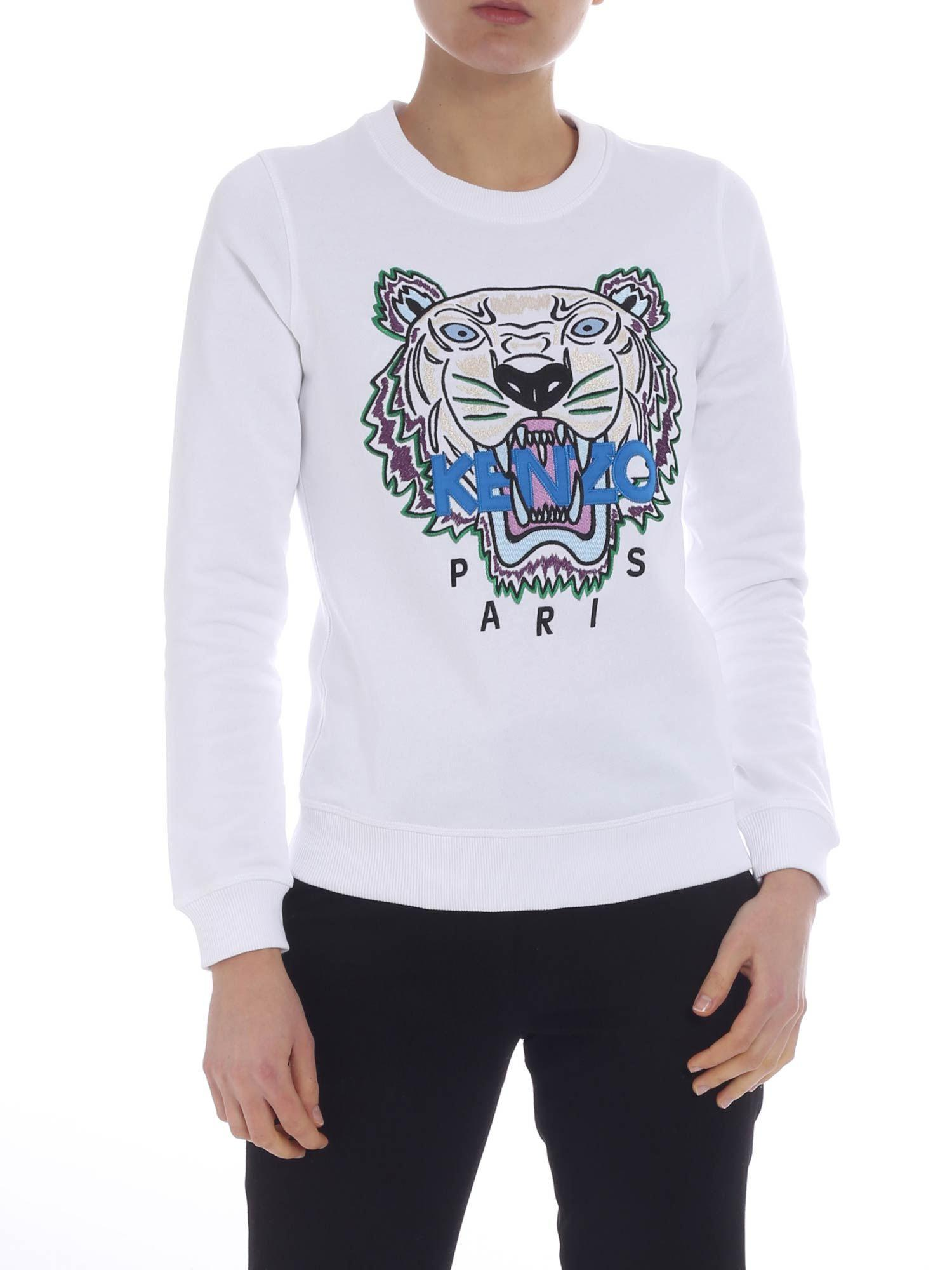 dcbc49cd Lyst - KENZO Tiger Sweatshirt In White in White
