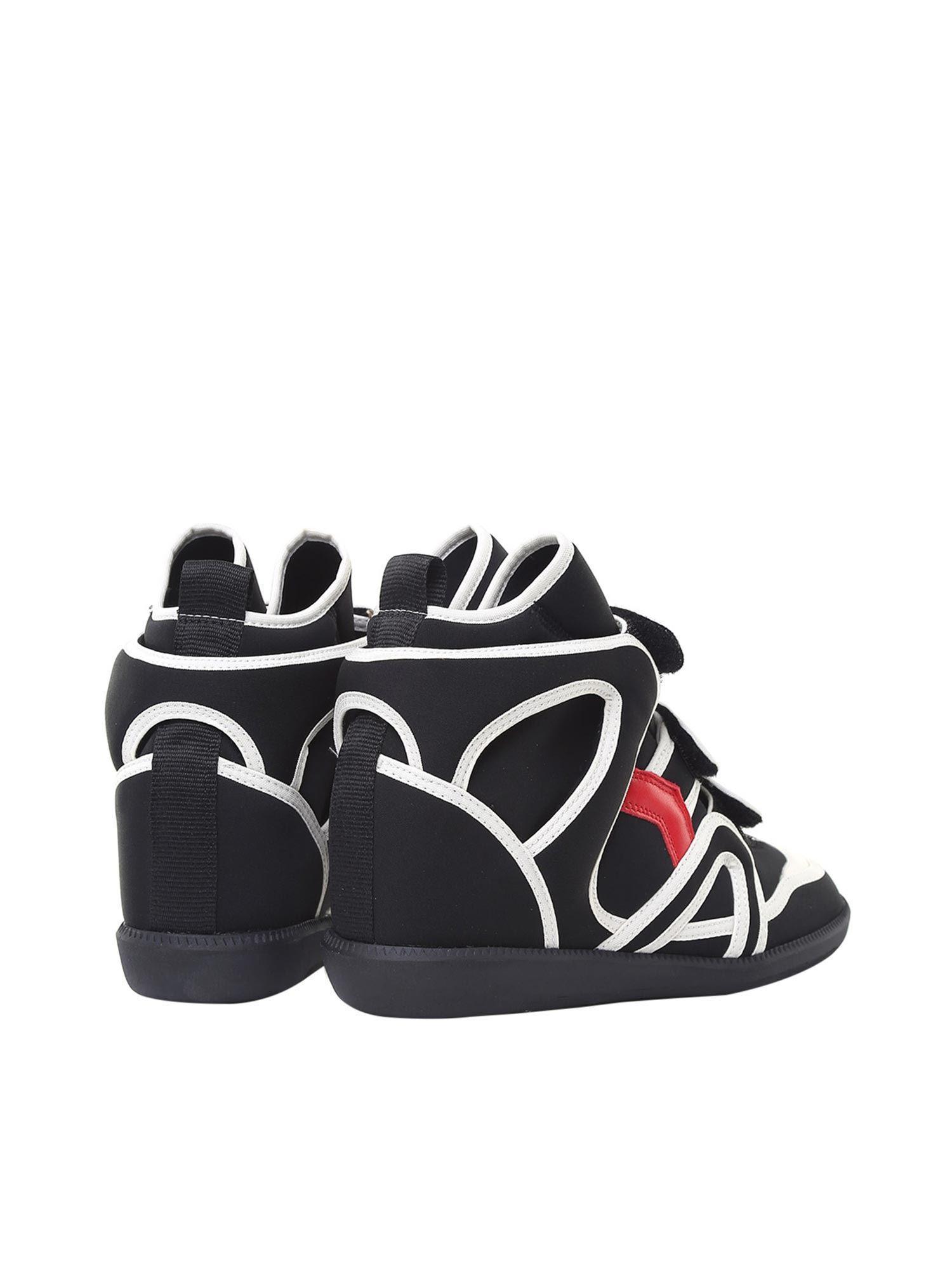 Isabel Marant Neoprene Buckee Wedge Sneakers