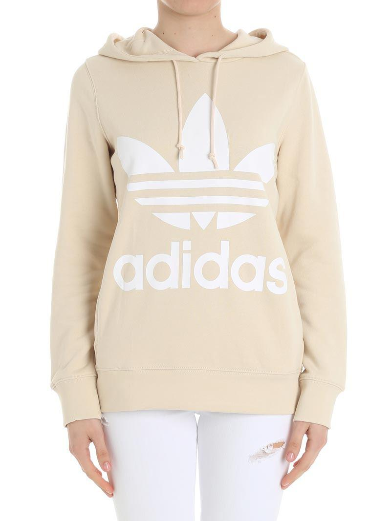 lowest price undefeated x best supplier Cream-colored Trefoil Hoodie Sweatshirt