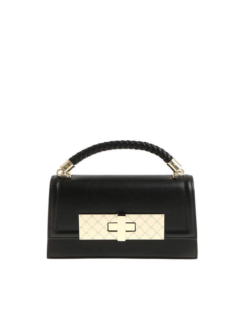 Black eco-leather shoulder bag Elisabetta Franchi hZYk47