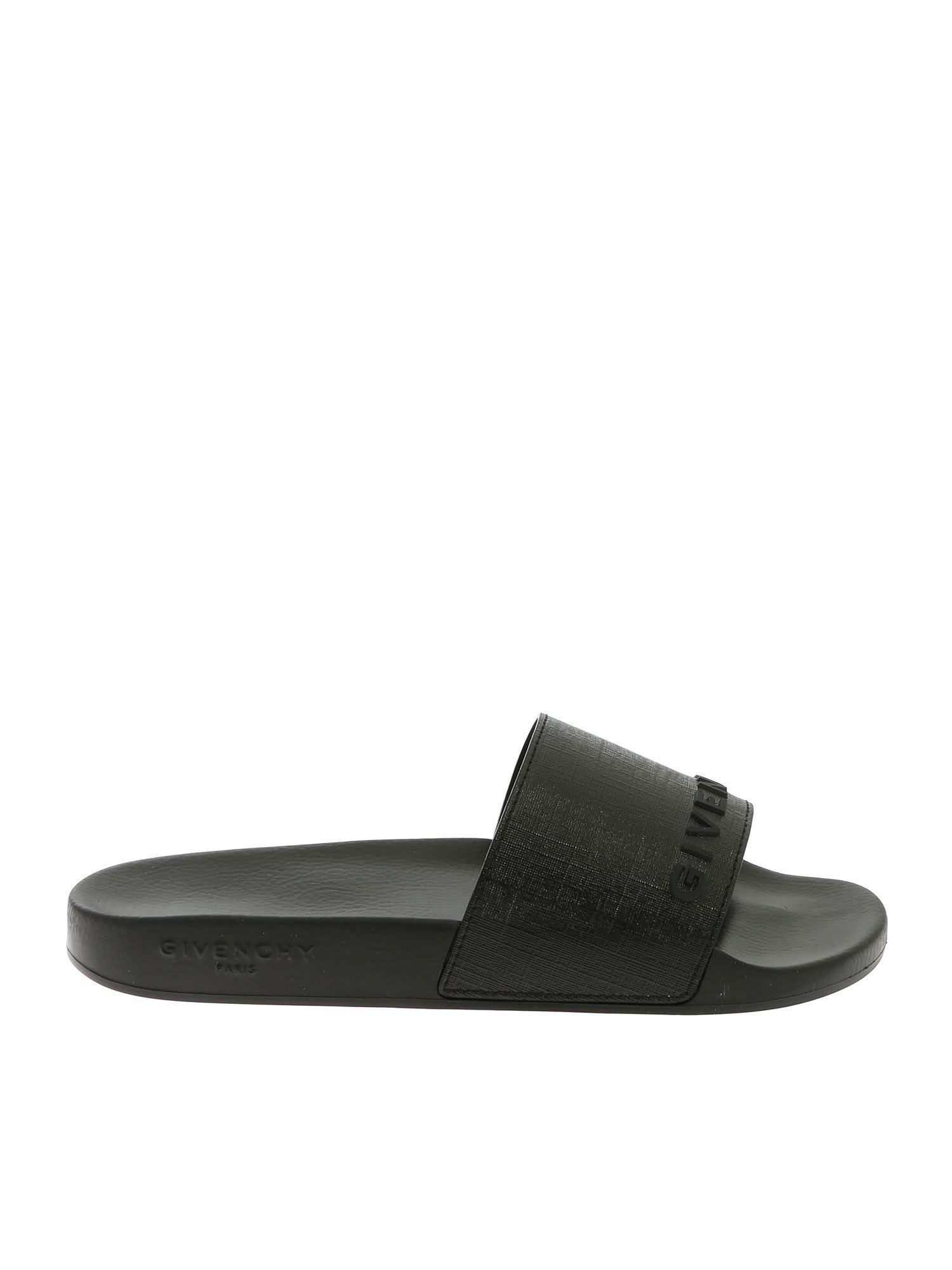 9527c45b4bd30 Givenchy - Black Slides With 3d Logo for Men - Lyst. View fullscreen