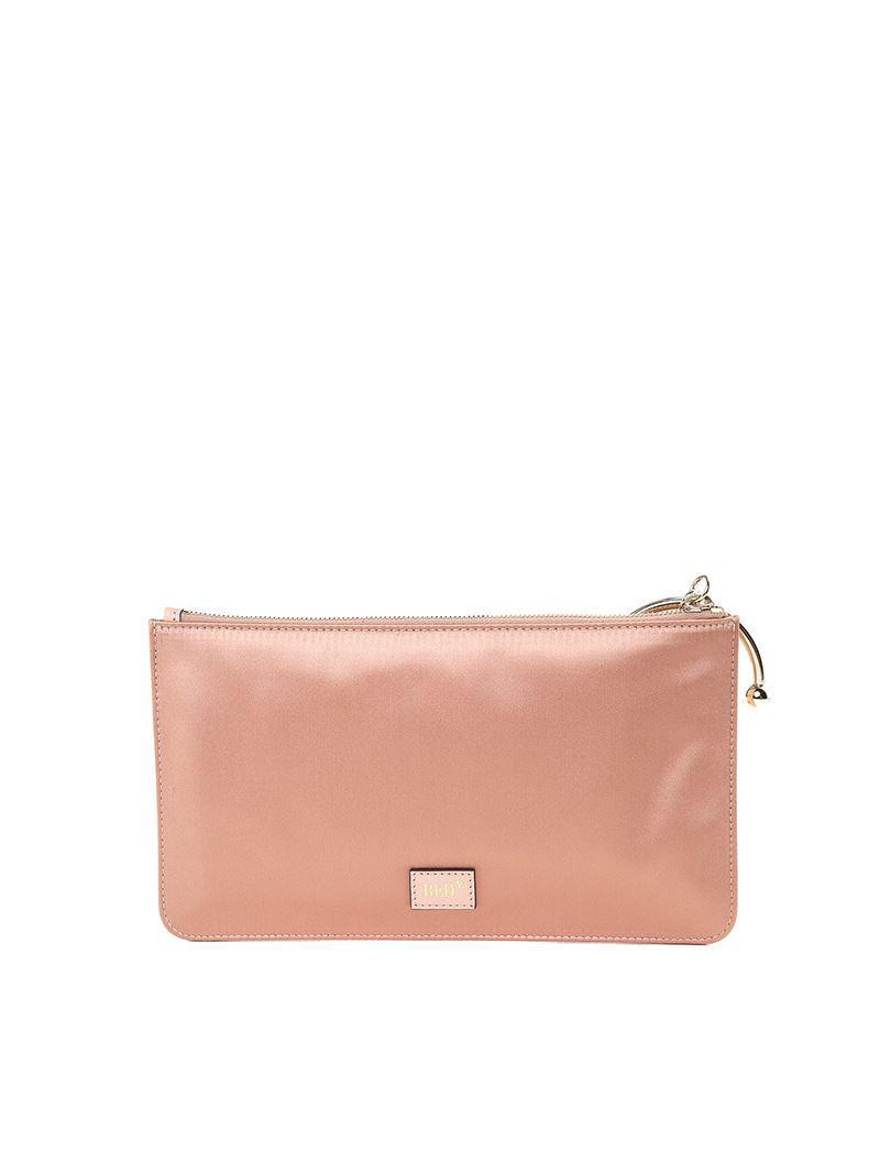 Red Valentino Pink clutch bag with multicolor rhinestones FdTMotFS4