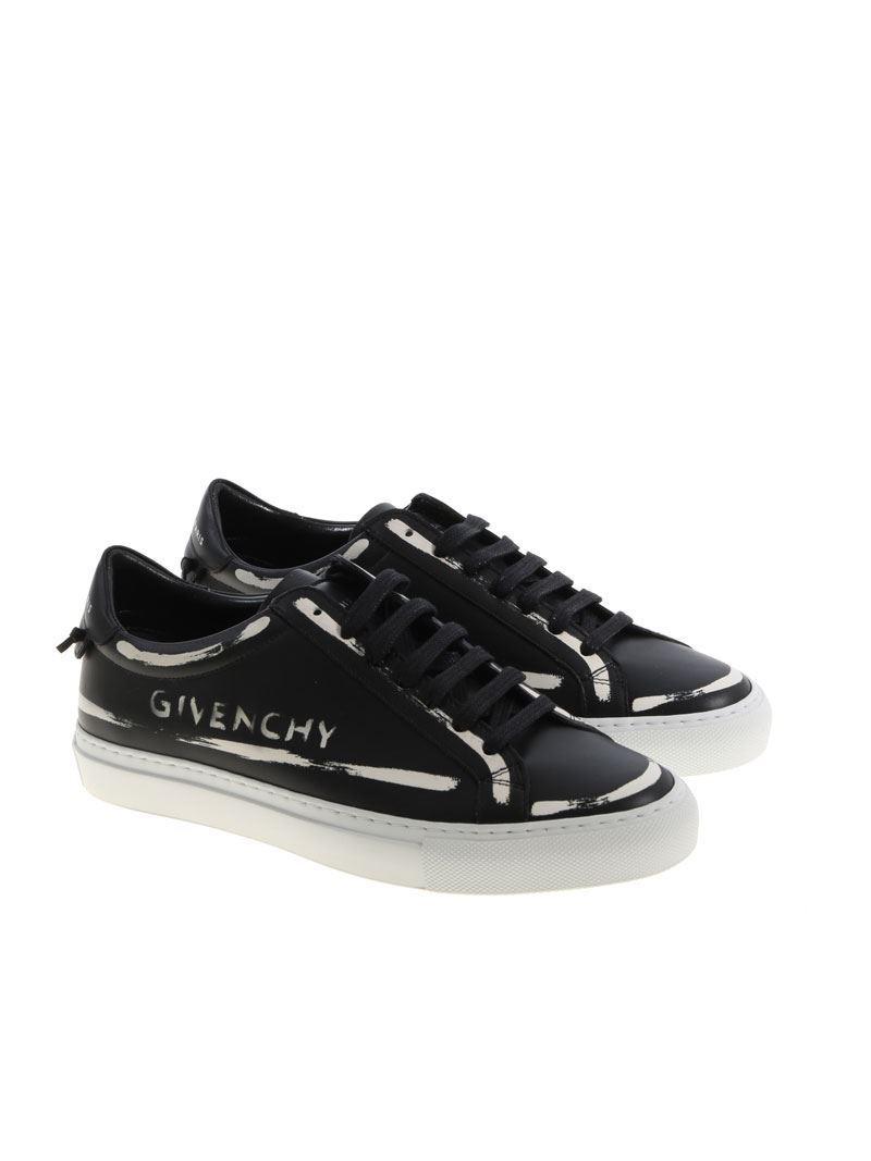Givenchy Impression Noir Chaussures De Sport De La Rue Urbaine MdzvXfex