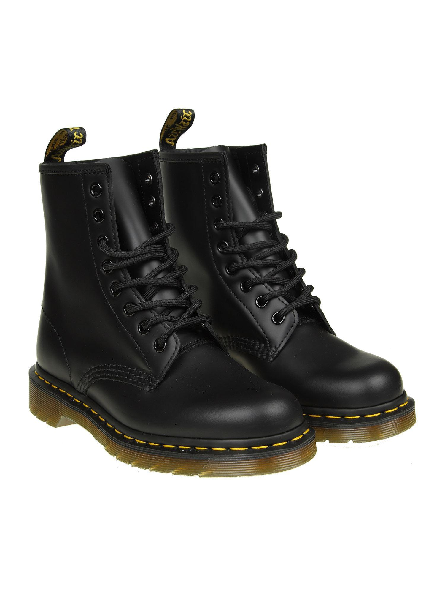 Dr. Martens - 1460 Smooth Black Ankle Boots - Lyst. View fullscreen 0ff1a8381d70