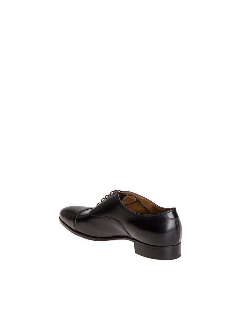 Gravati Leather Oxford Shoes in Black for Men