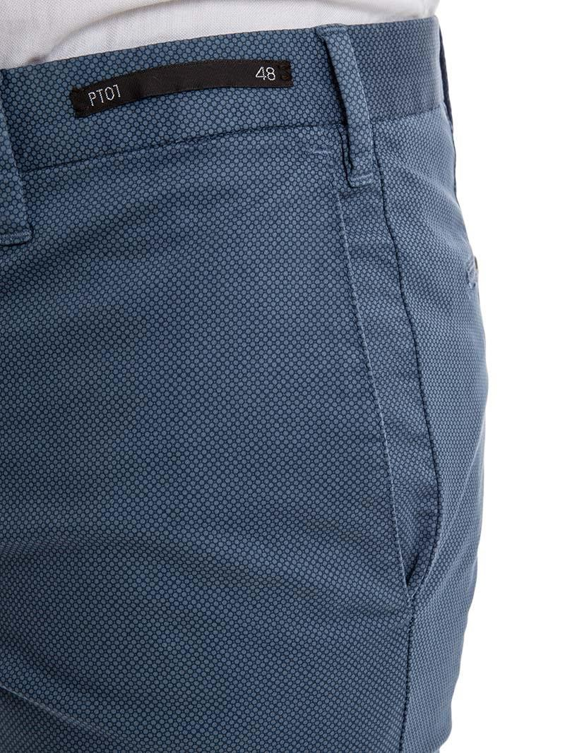 PT01 Cotton Business Trousers in Blue for Men
