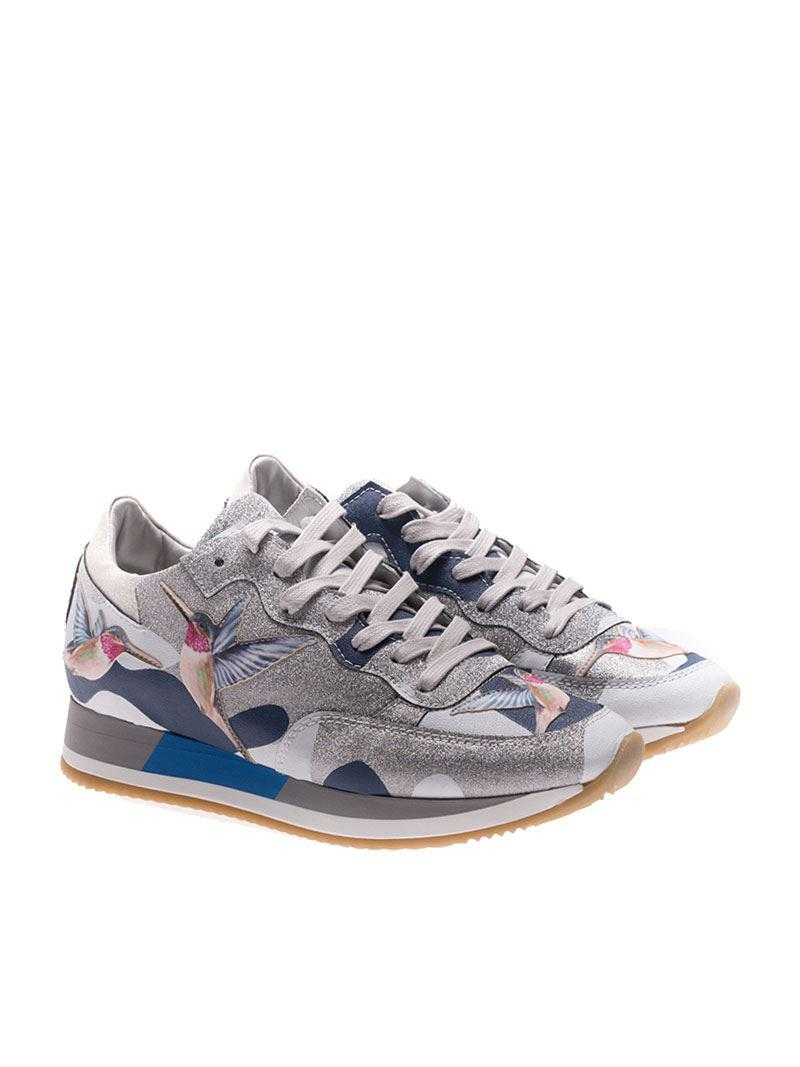Tropez sneakers with bird embroideries Philippe Model pV0E7jYM