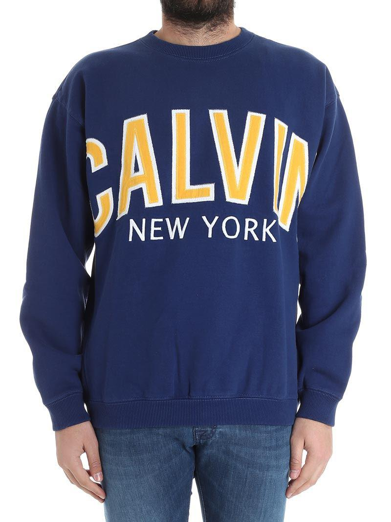 Blue Calvin New York sweatshirt Calvin Klein Jeans Sneakernews Online Low Cost For Sale Exclusive Cheap Online Buy Cheap Finishline Great Deals Sale Online CVc4C5cA